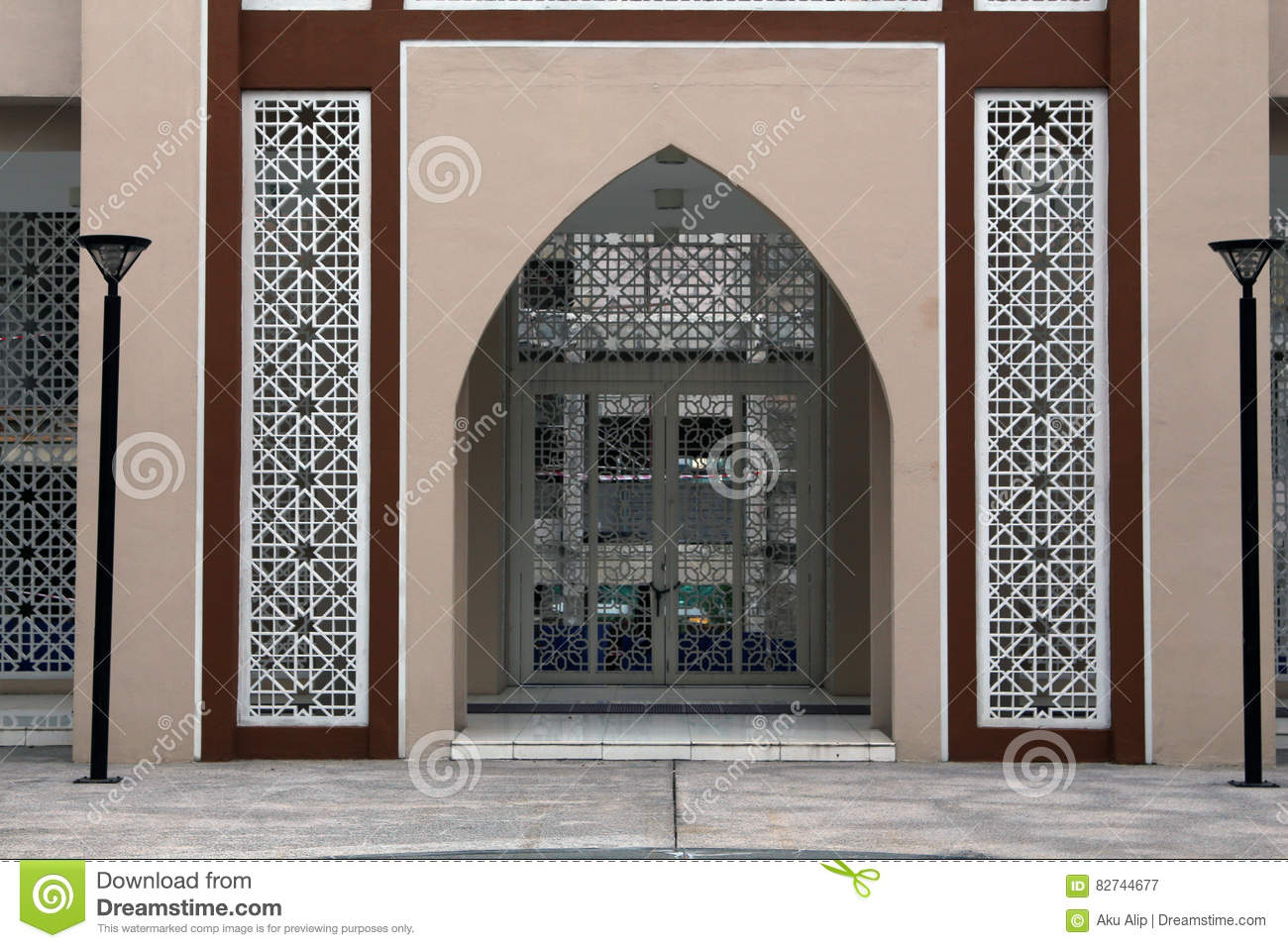 A mosque gate art stock image image of pattern detail for International decor main gates