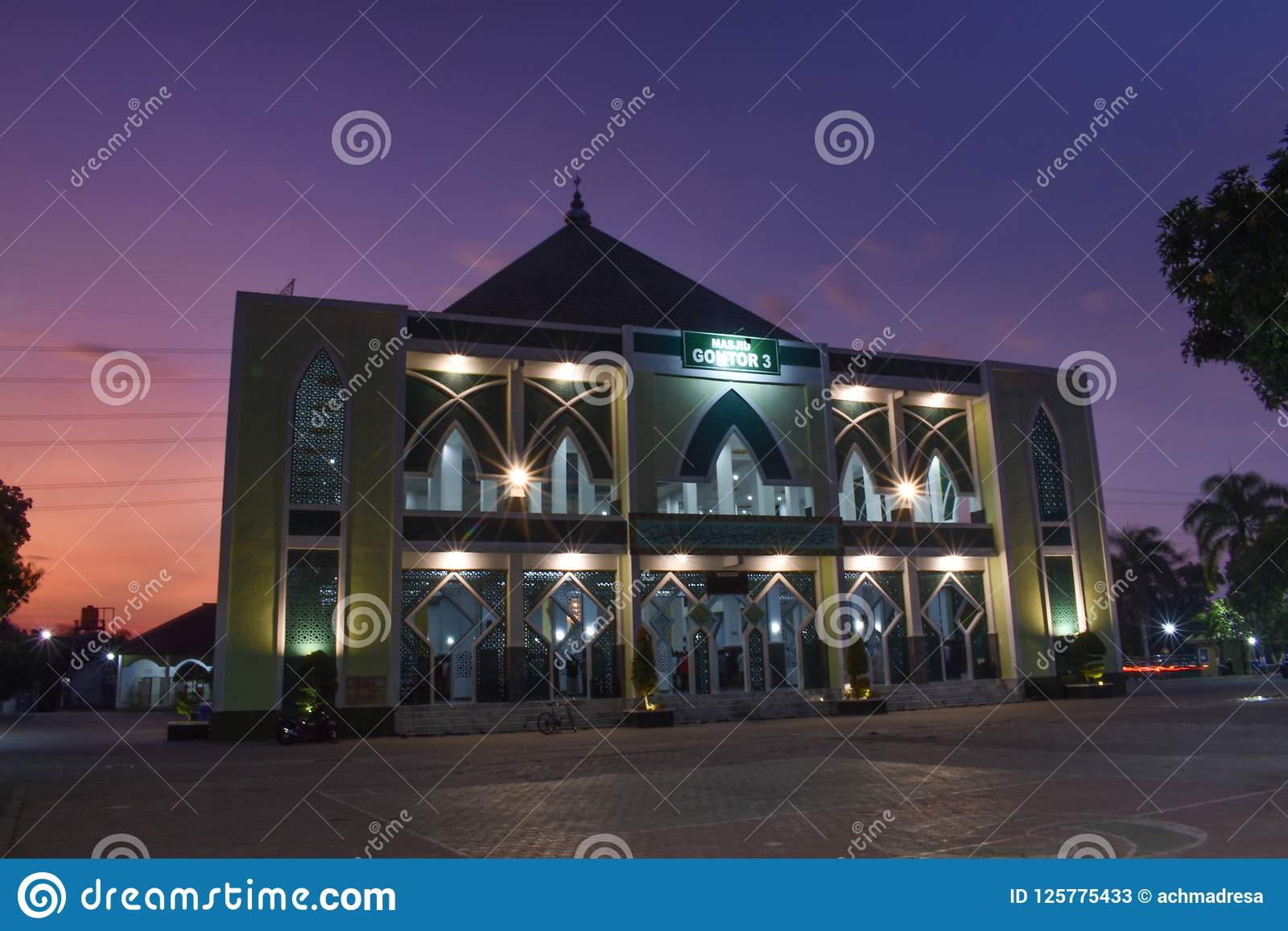 Mosque Of Gontor 3 Stock Image Image Of East Gontor 125775433