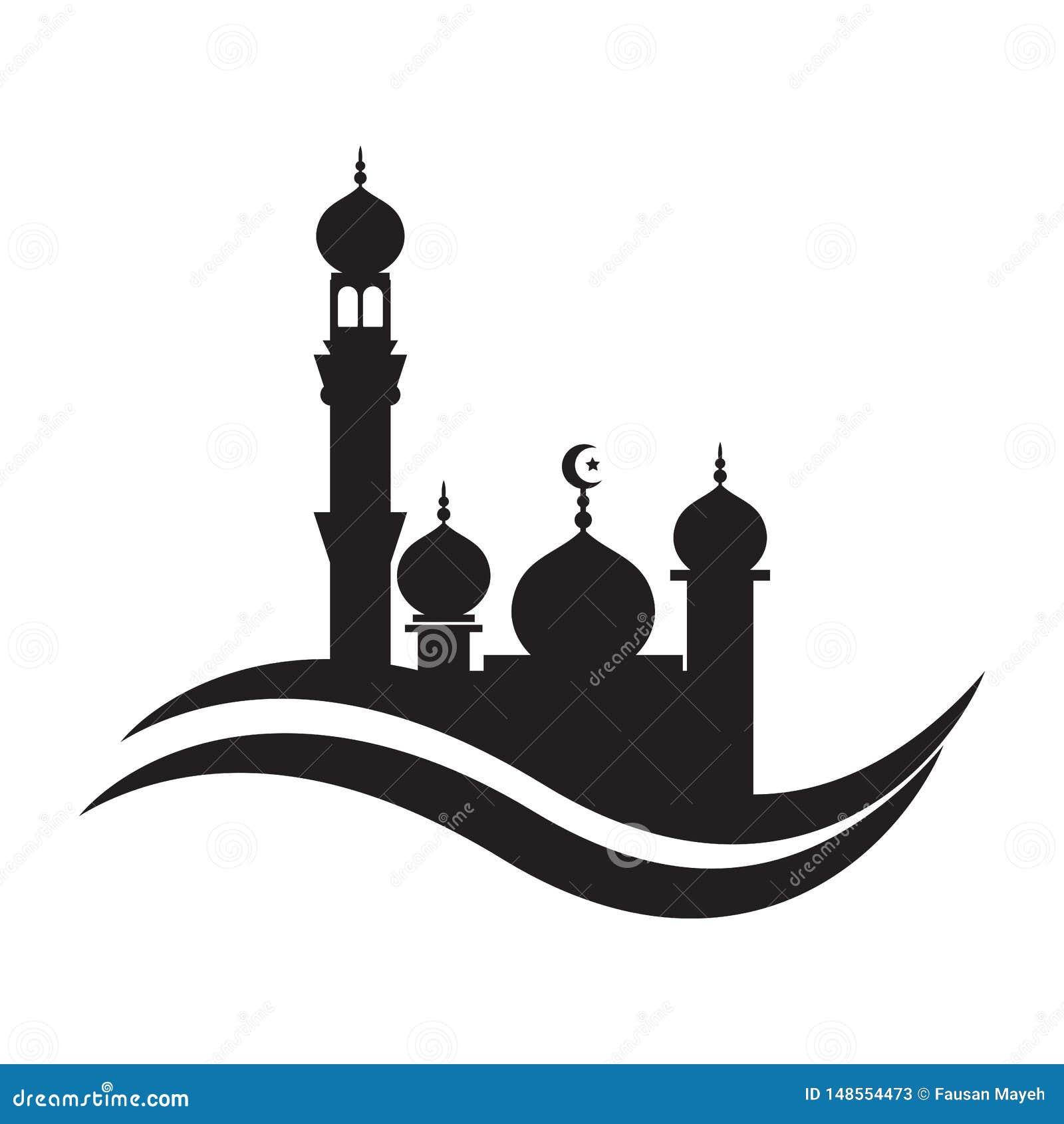 Mosque icon vector Illustration design template. mosque Icon Symbol Logo