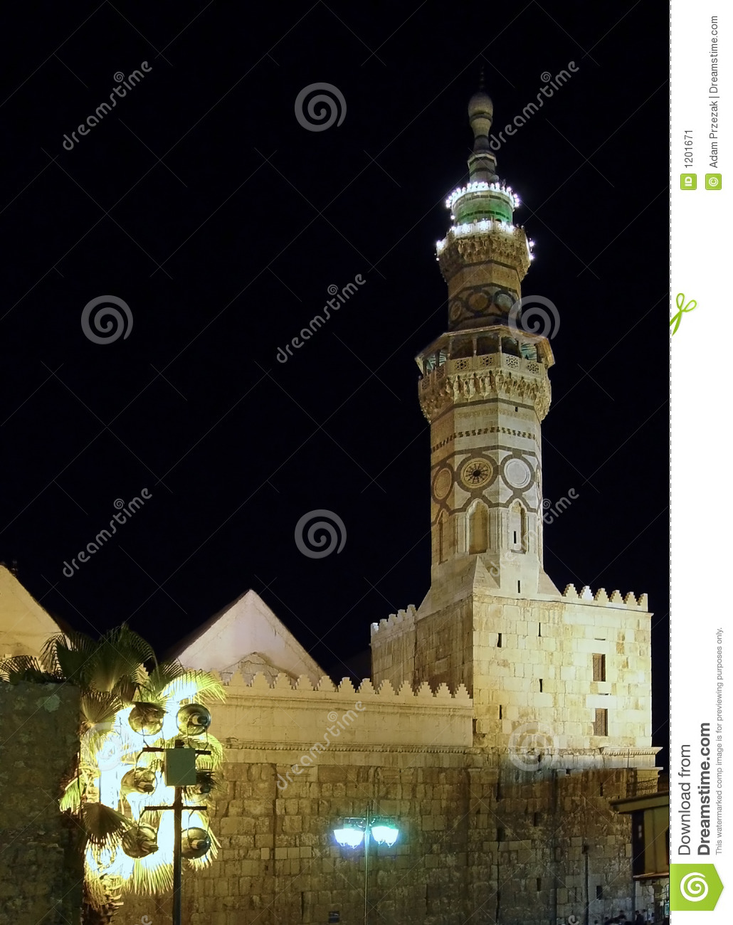 Mosque by night. Damascus, Syria