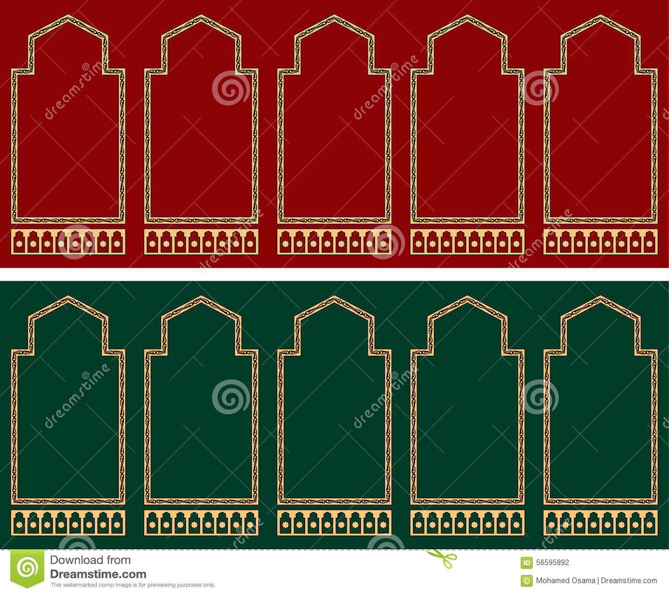 Mosque Prayer Carpet Pattern Stock Illustration Image