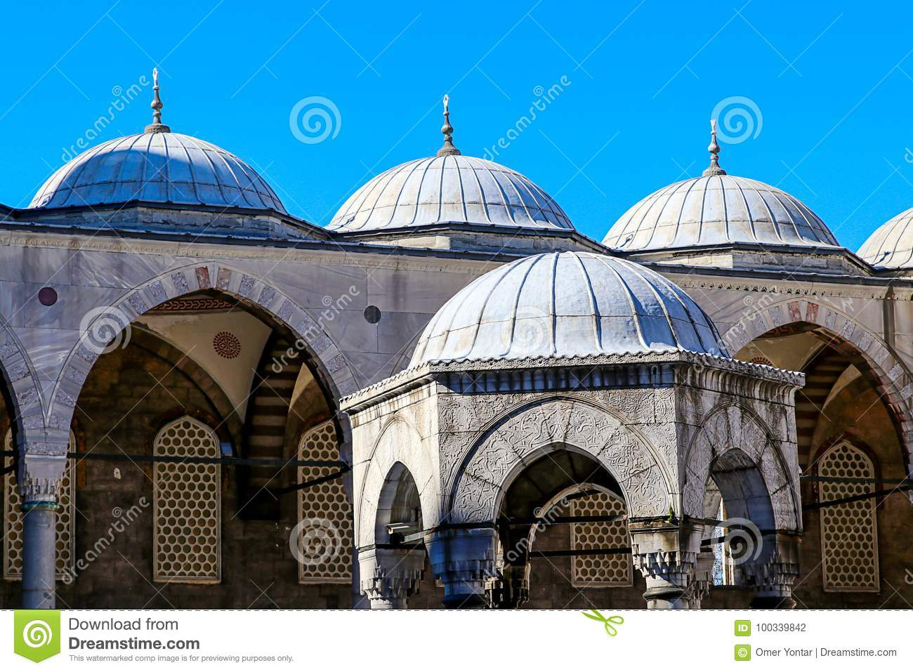 Mosques and Blue Sky