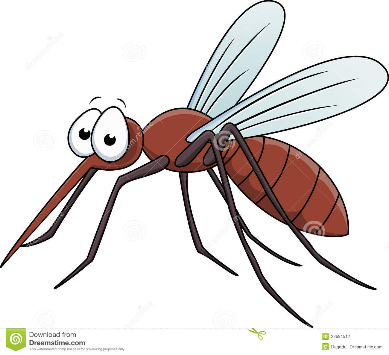 Stock Photography: Mosquito cartoon. Image: 23691512
