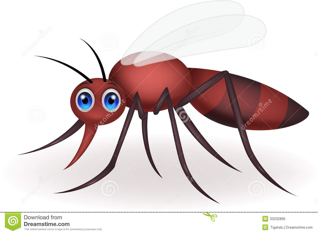 Mosquito Cartoon Royalty Free Stock Photo - Image: 33232895