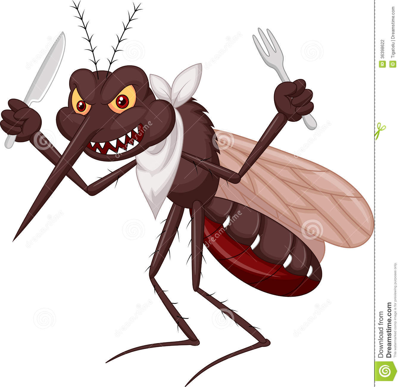 Mosquito Cartoon Ready For Eat Stock Photography - Image: 36398622
