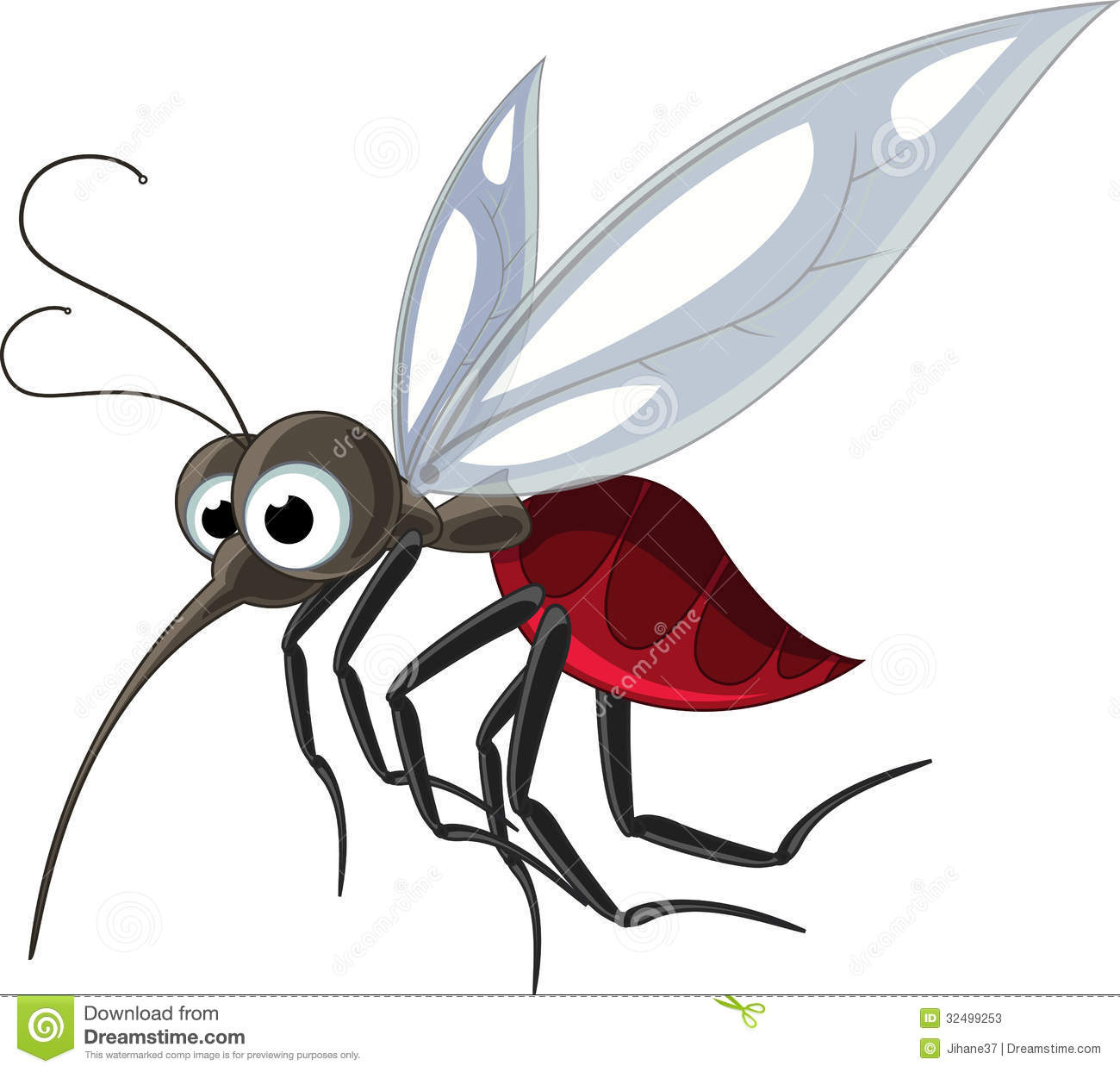 Mosquito Cartoon For You Design Stock Photos - Image: 32499253