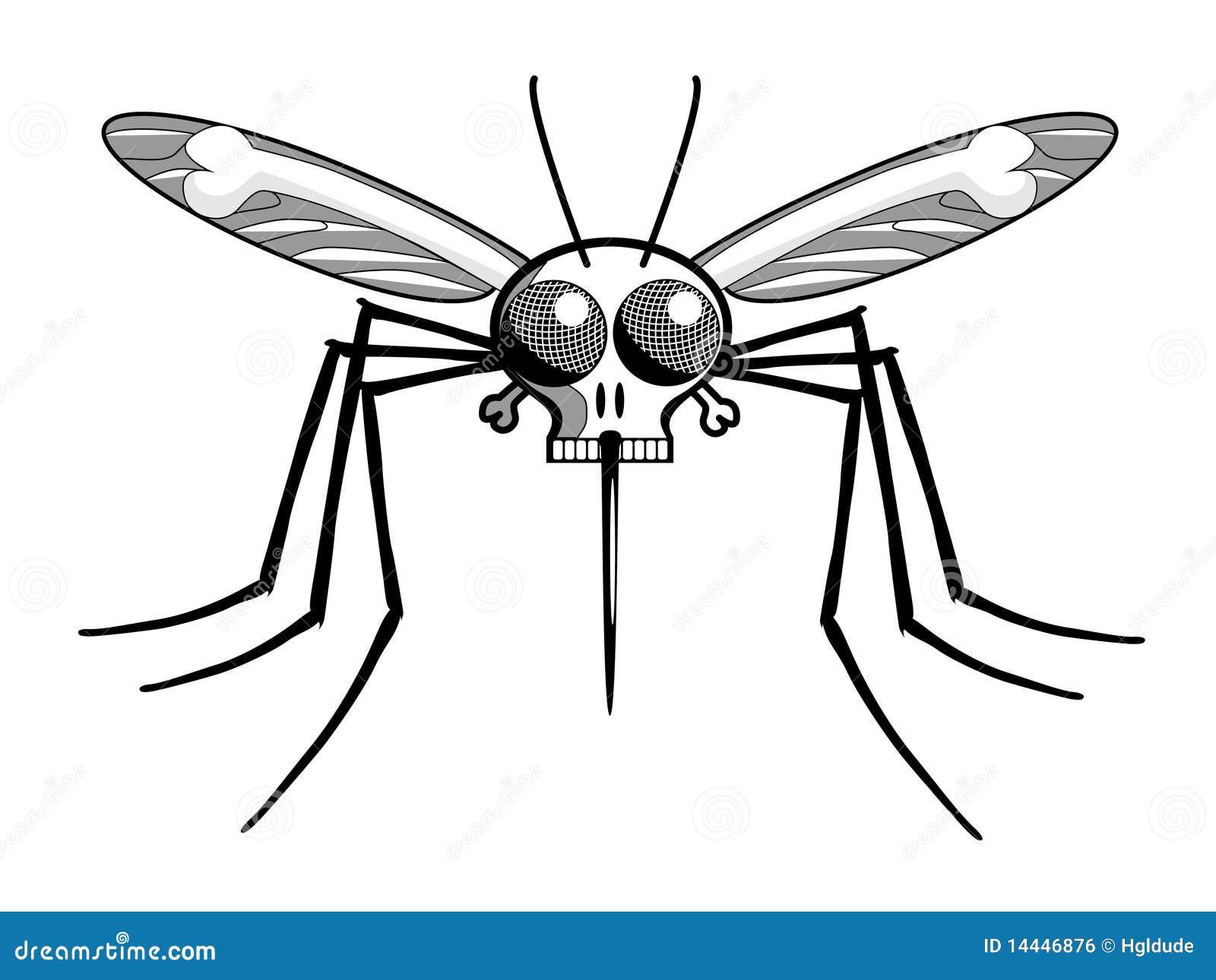 Mosquito de malaria de la pista de muertes