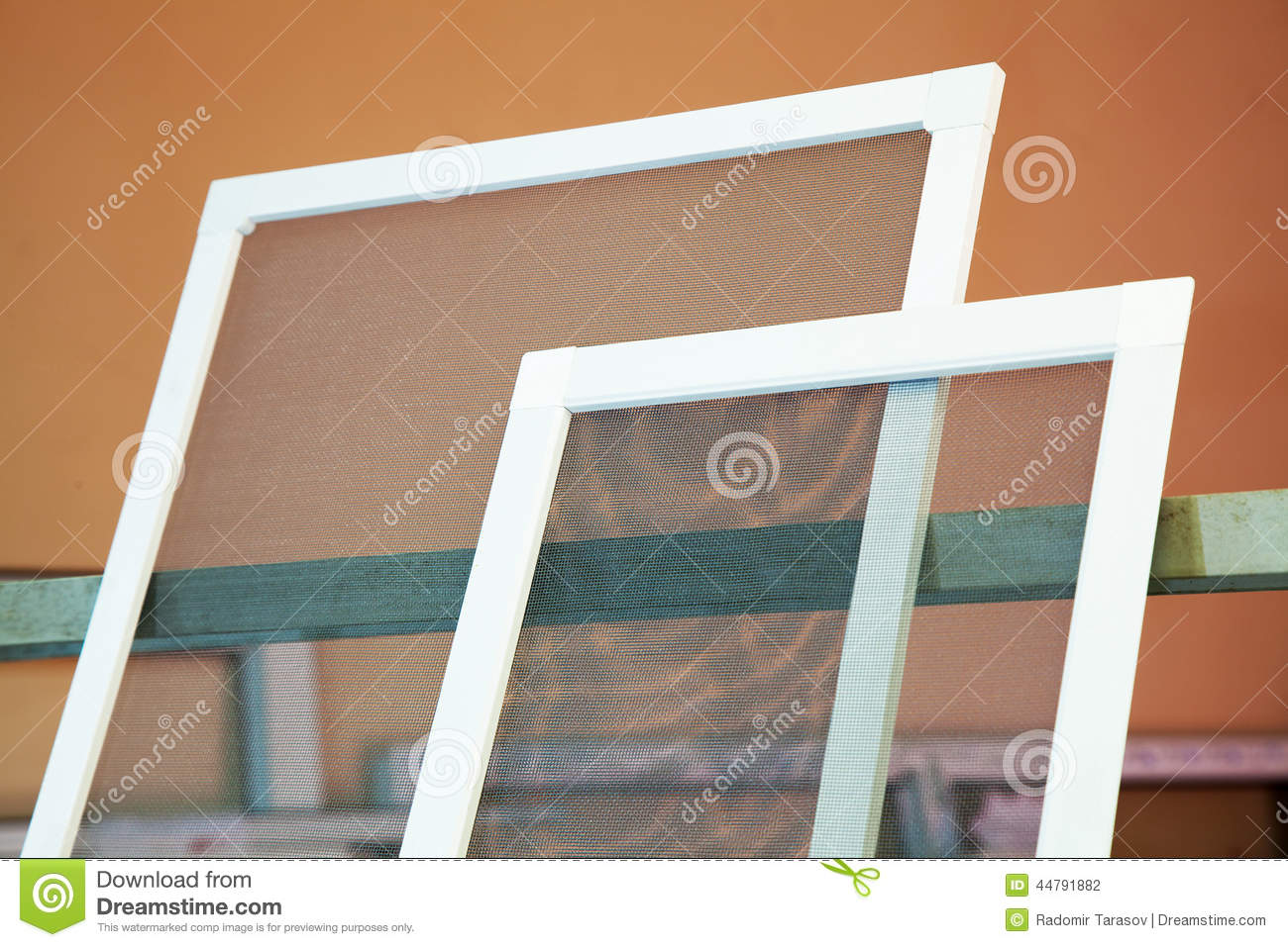 Mosquito Nets For Plastic Windows Stock Photo Image Of