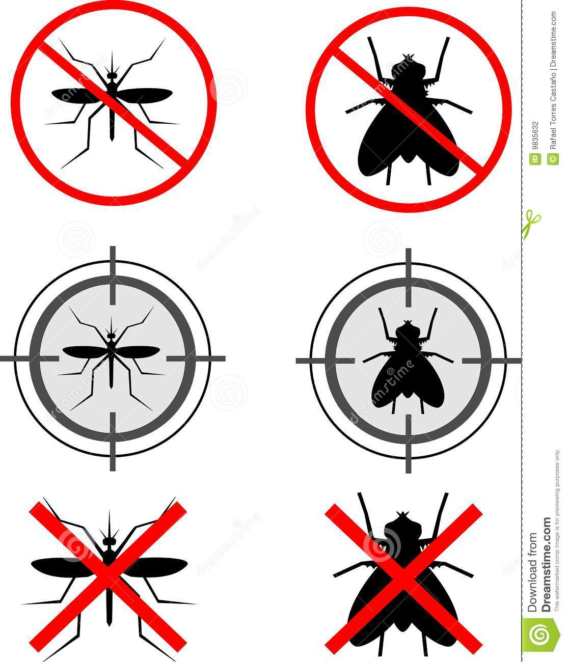Mosquitoes And Flies Stock Vector Illustration Of Insect 9835632