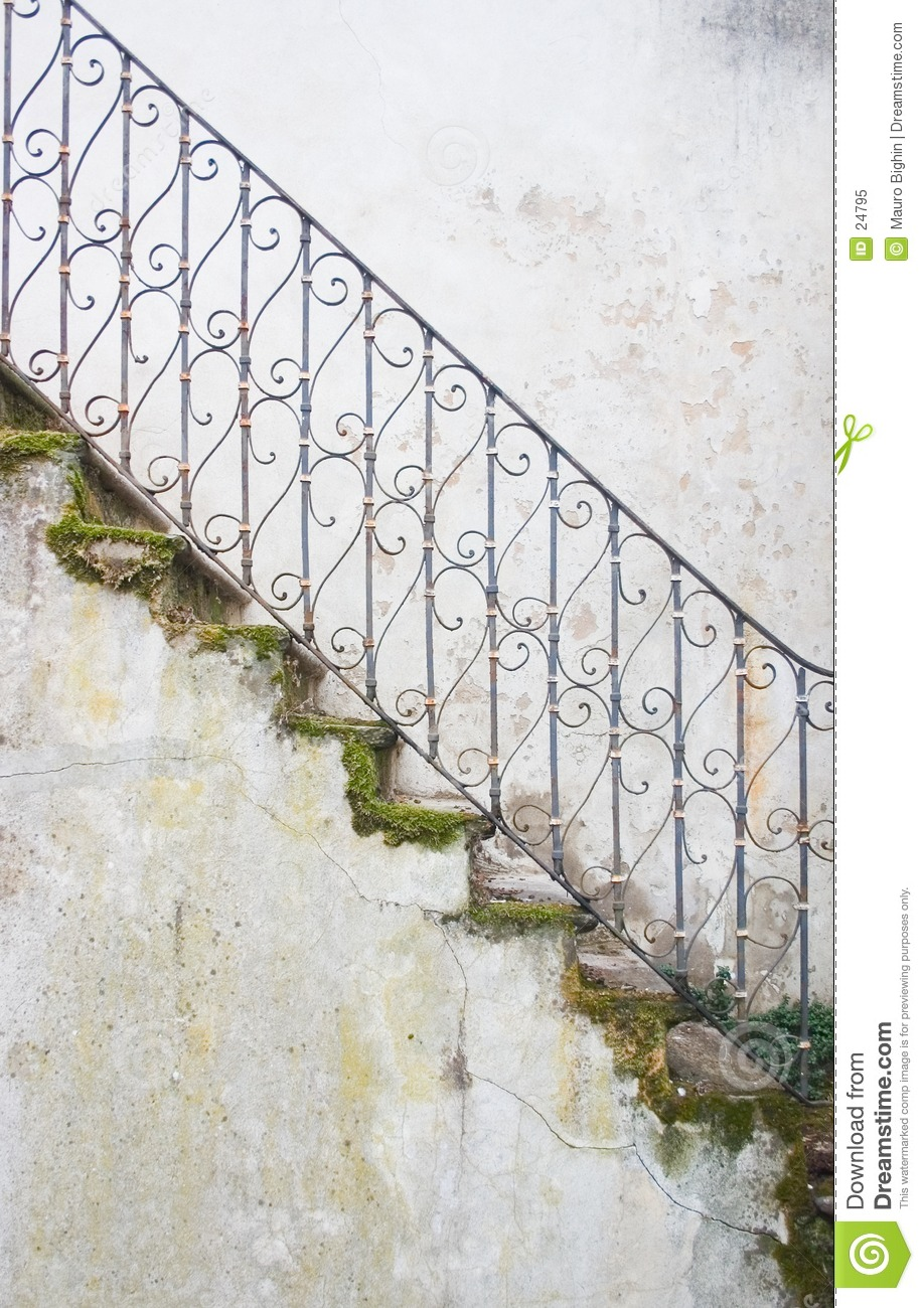 Mossy stairway