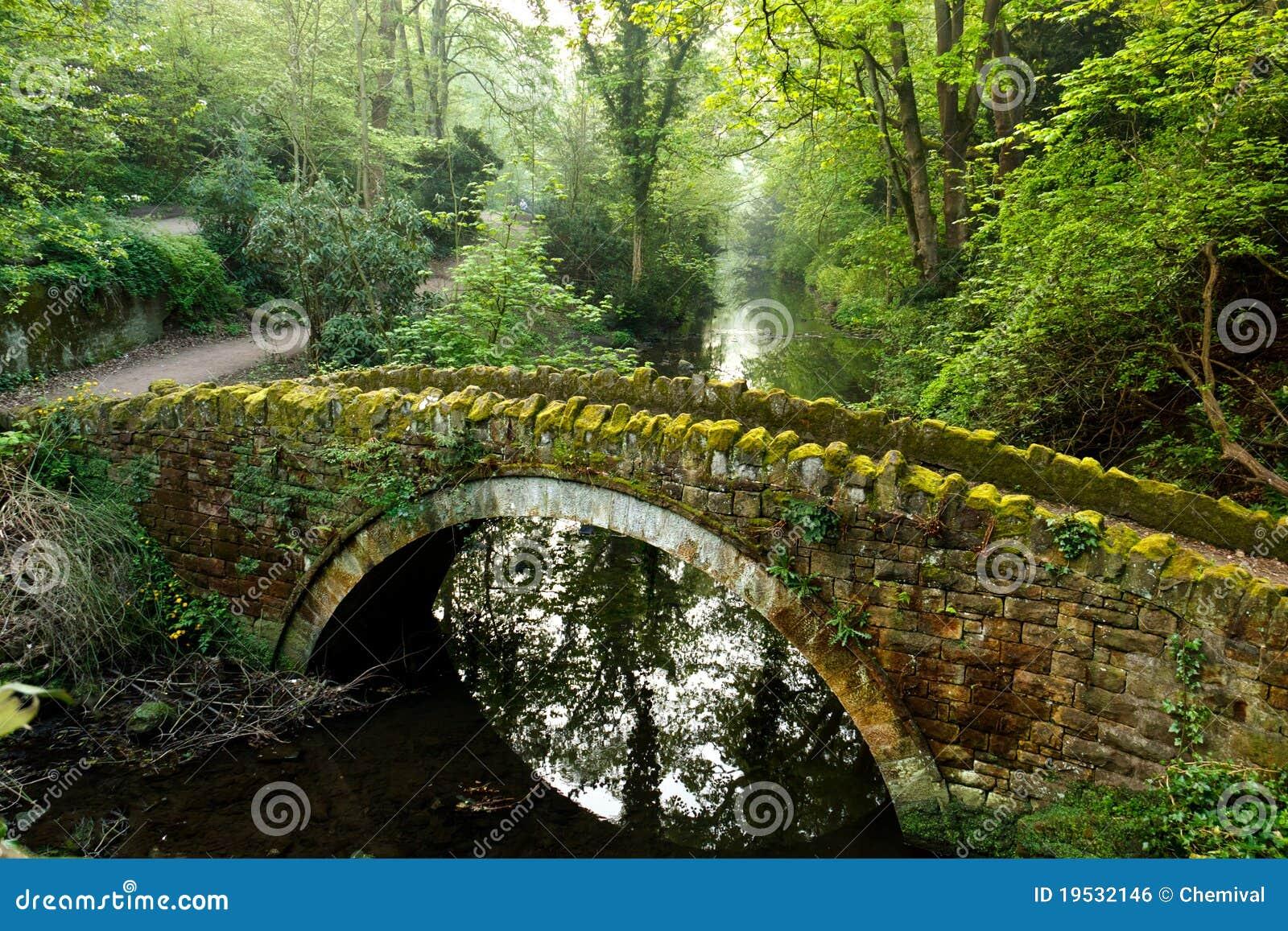 mossy stone footbridge royalty free stock image image