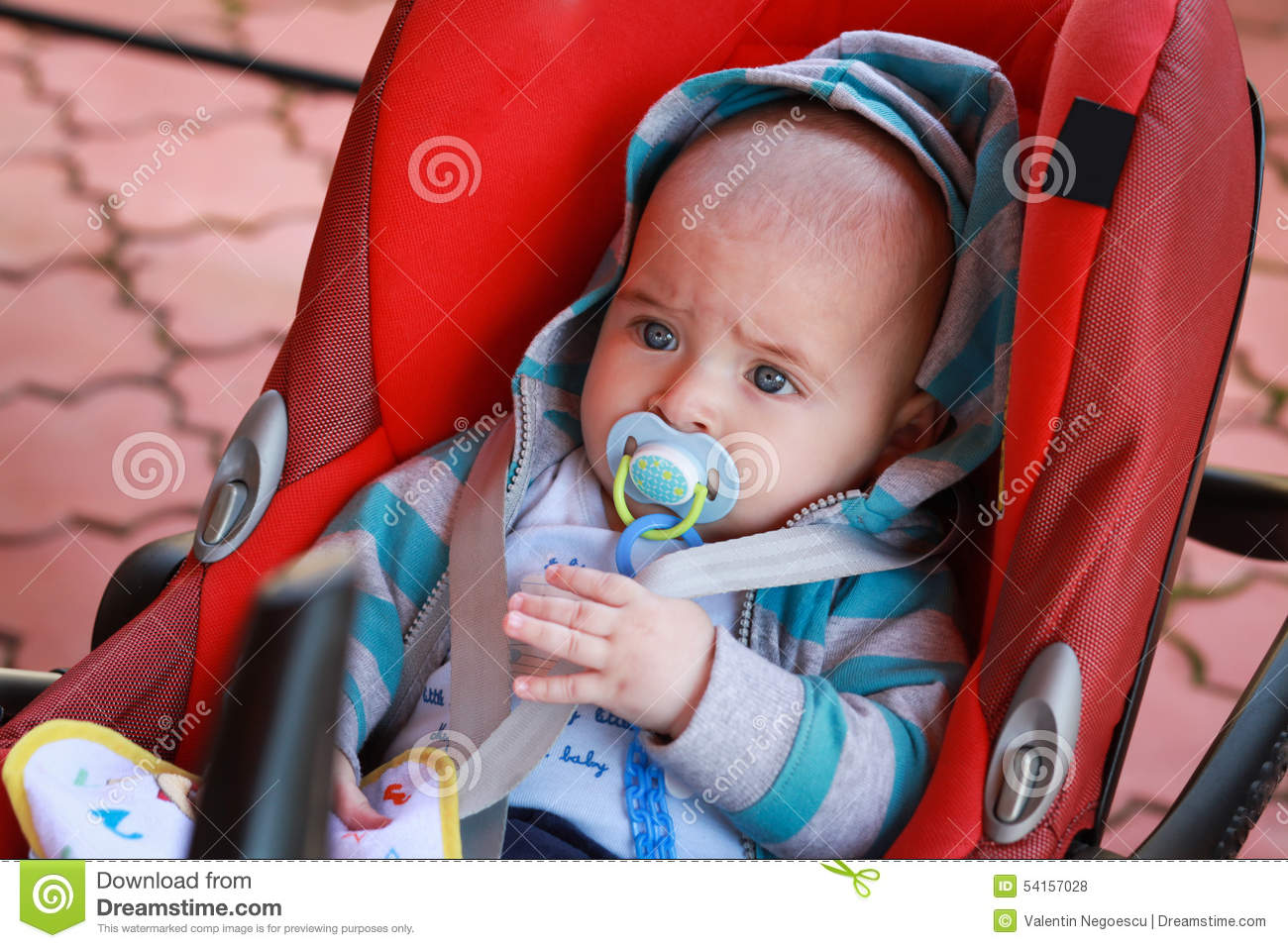 the most adorable boy in the world with blue eyes stock photo