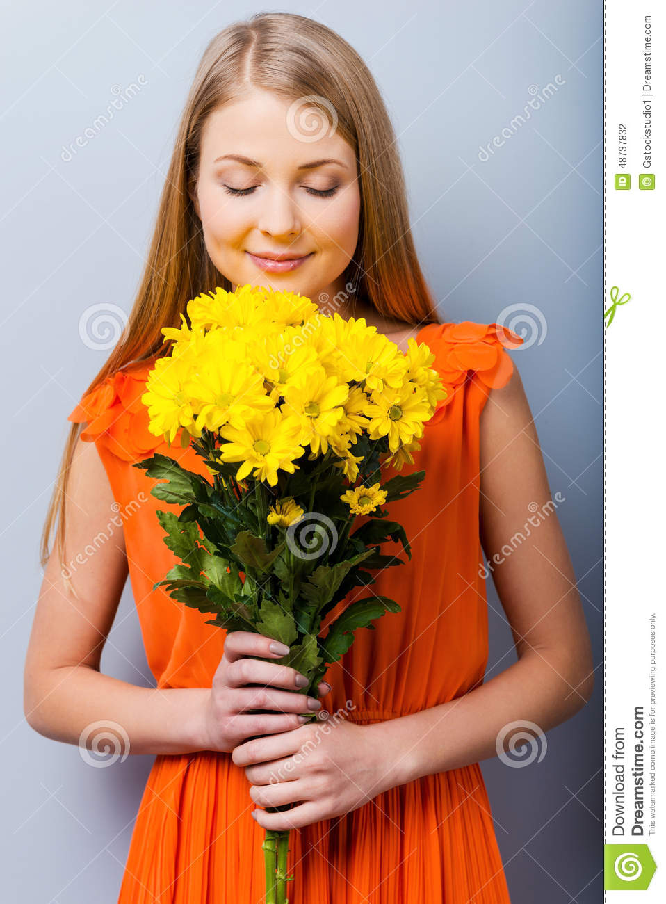 The most beautiful flowers for the most beautiful girl stock photo the most beautiful flowers for the most beautiful girl izmirmasajfo