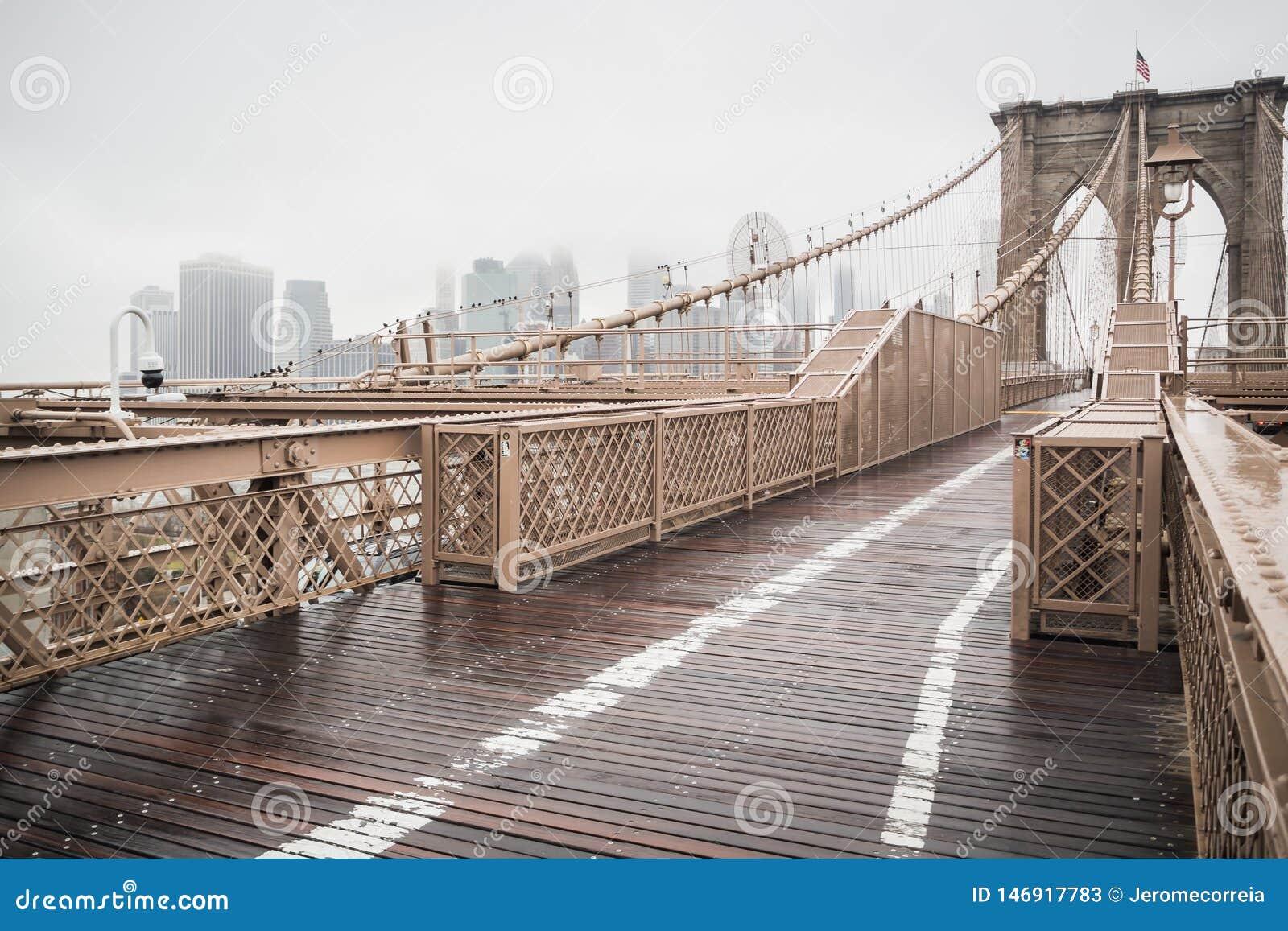 Most Brooklyński główna droga prowadzi w centrum Manhattan
