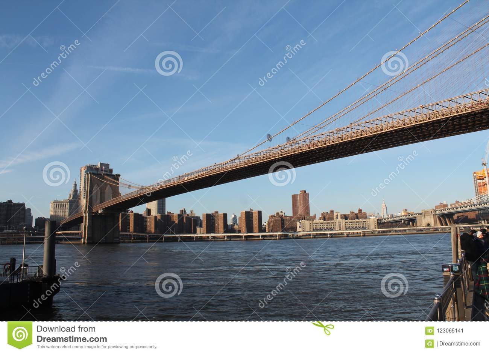 Most Brooklyński - Uwypuklać Wschodnią rzekę