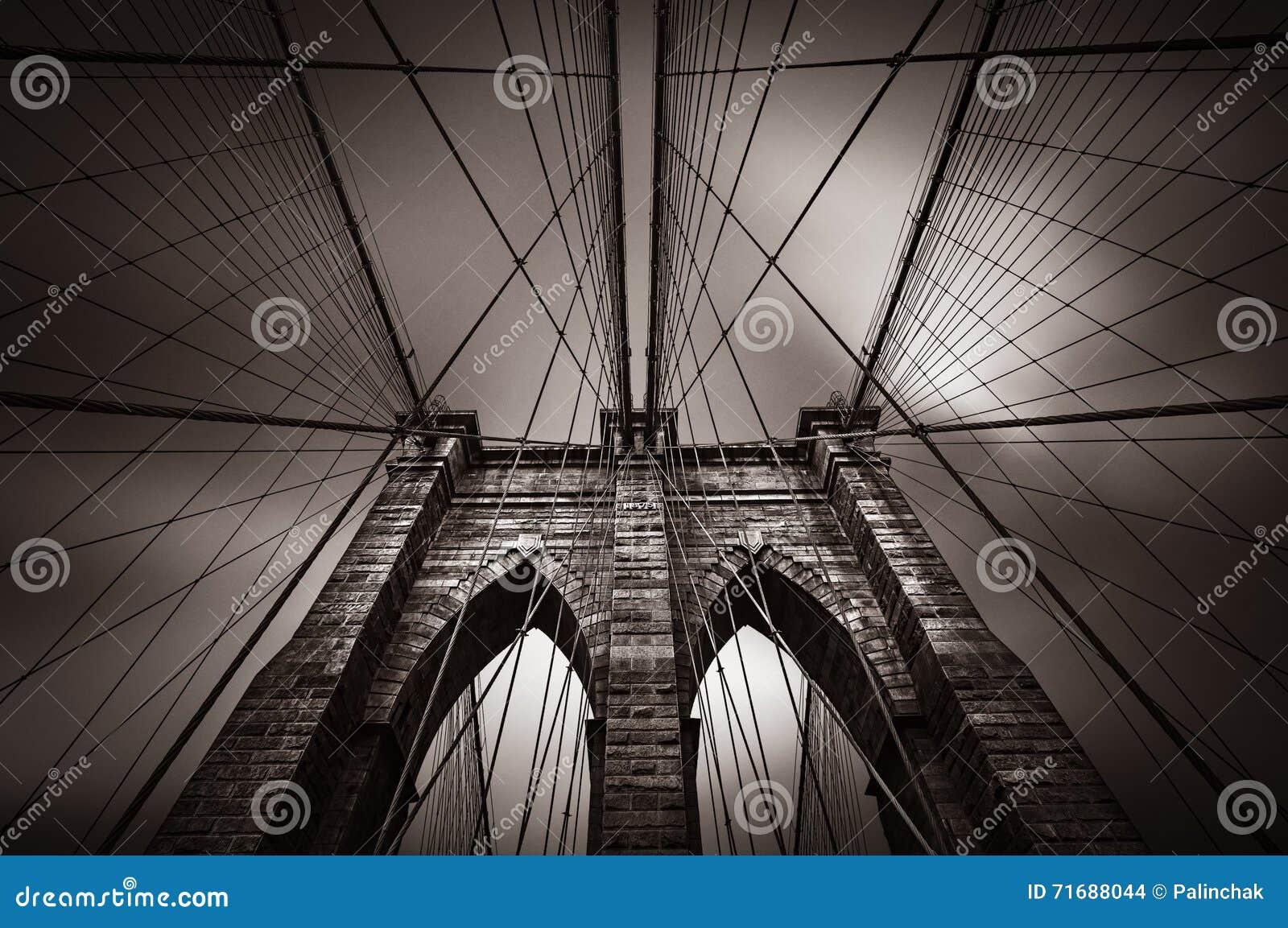 Most Brooklyński w NYC, usa