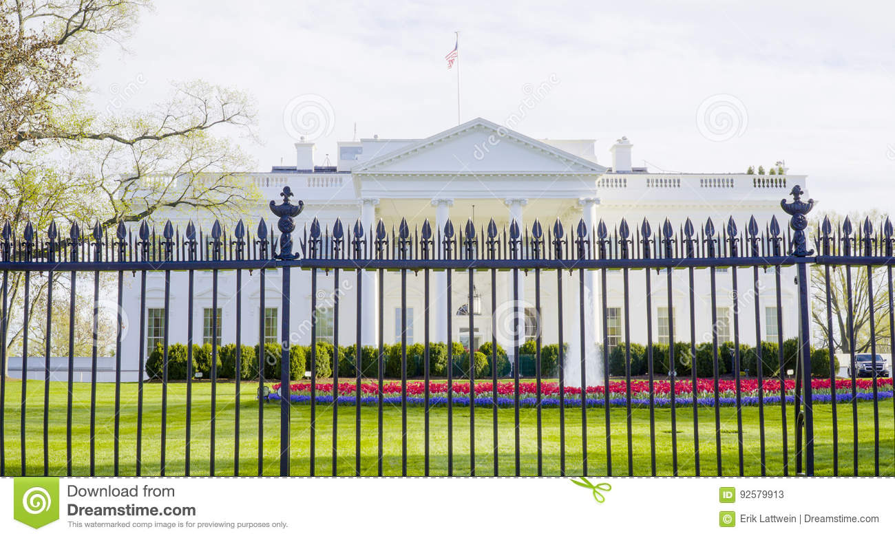 Most famous address in the United States - The White House - WASHINGTON DC - COLUMBIA - APRIL 7, 2017