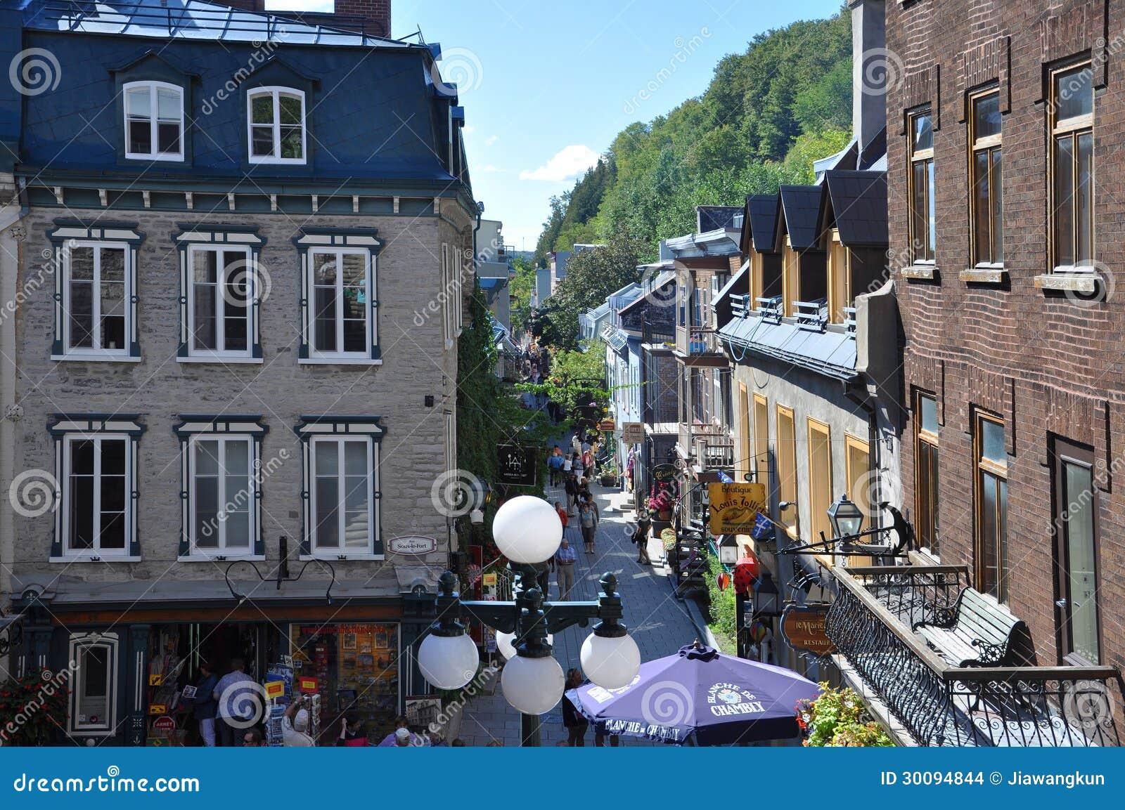 Rue du petit champlain quebec city canada editorial for Basse goulaine piscine