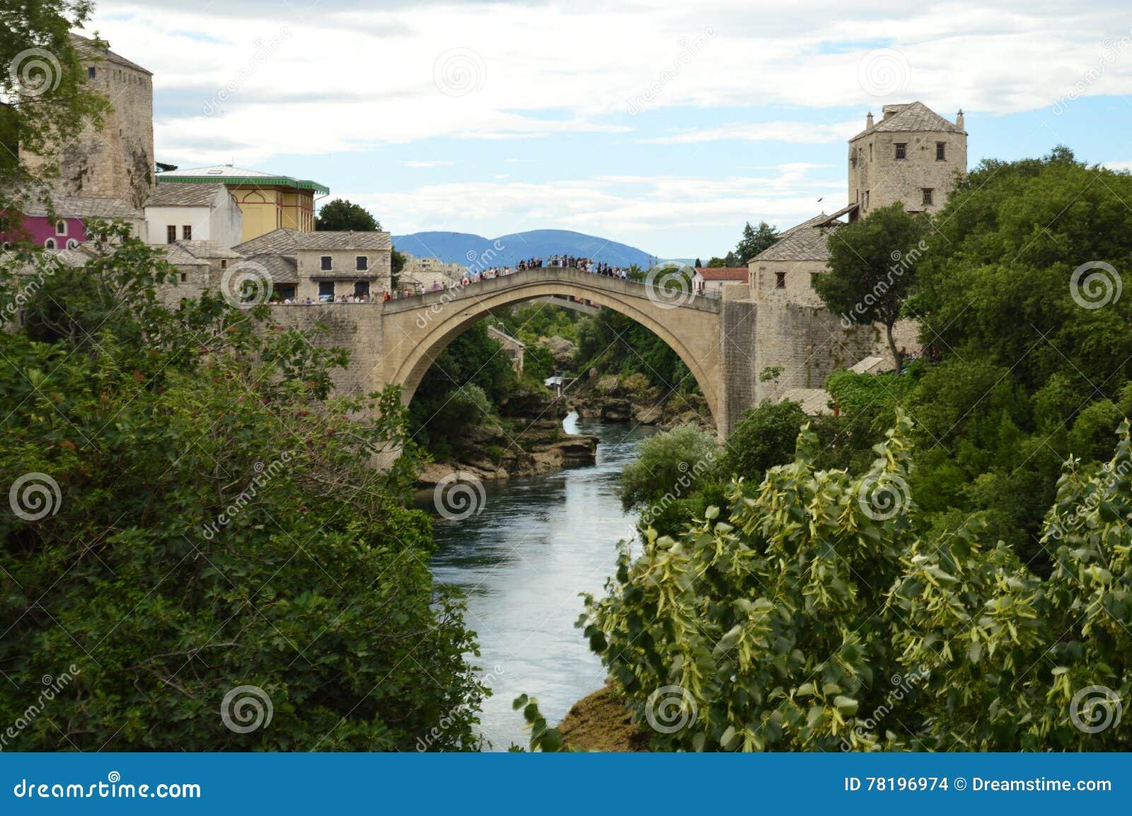 Mostar bridge in Bosnia and Herzegovina