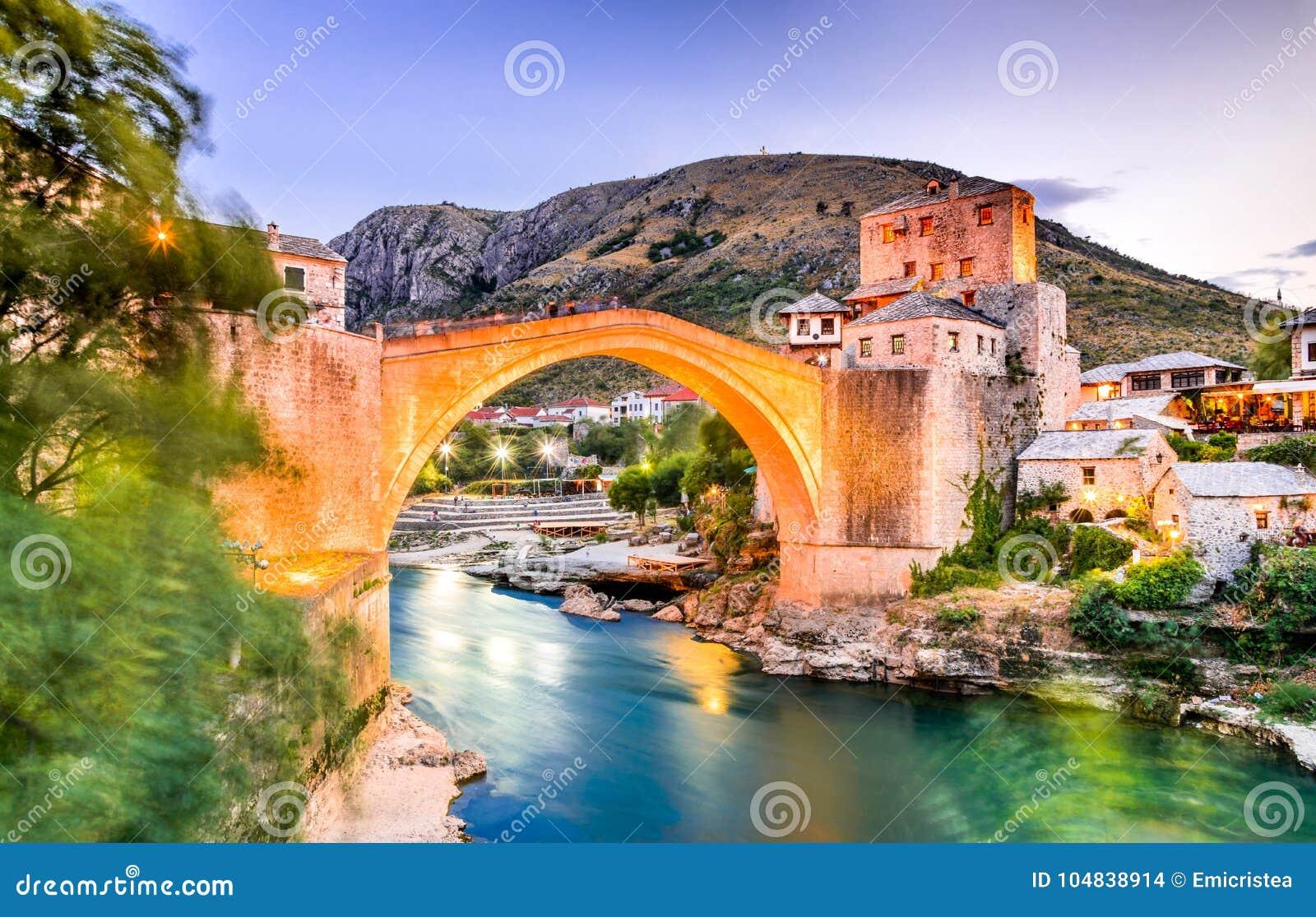 Mostar, Stari Most bridge in Bosnia and Herzegovina