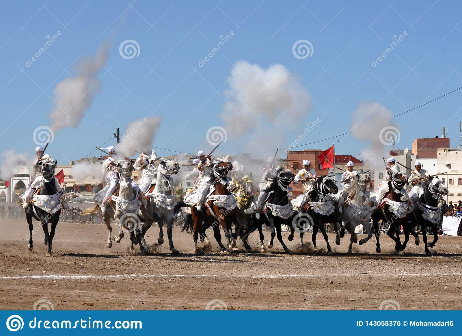 Mostra da fantasia em Marrocos-Safi Marrocos