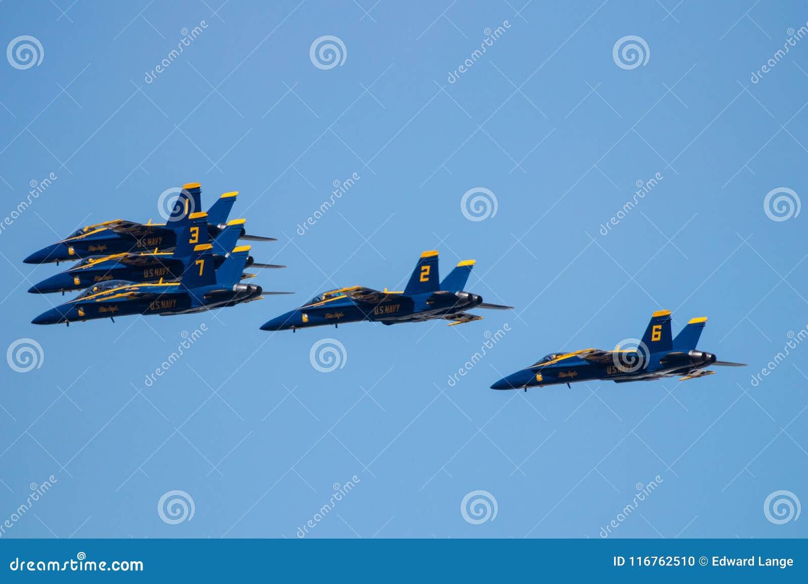 Mostra de Myrtle Beach South Carolina Air com os anjos azuis