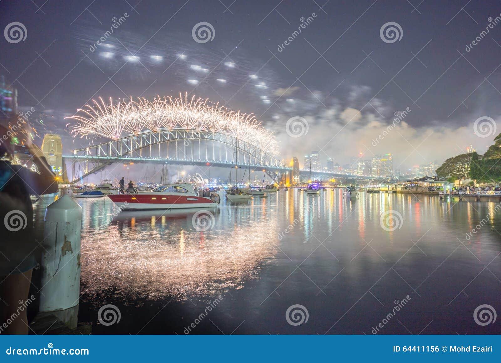 Mostra de Sydney New Year Eve Fireworks