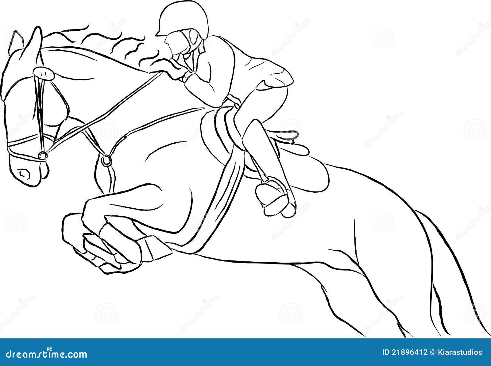 Mostri Il Vettore Di Salto Del Cavallo Fotografia Stock