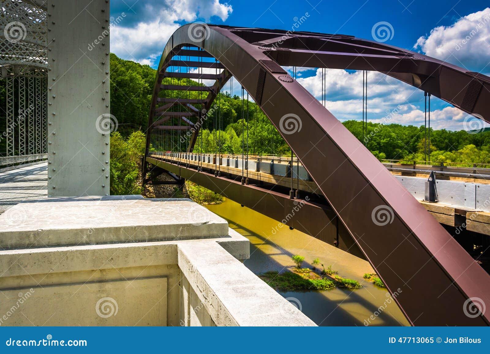Mosty nad Loch kruka rezerwuarem w Baltimore, Maryland