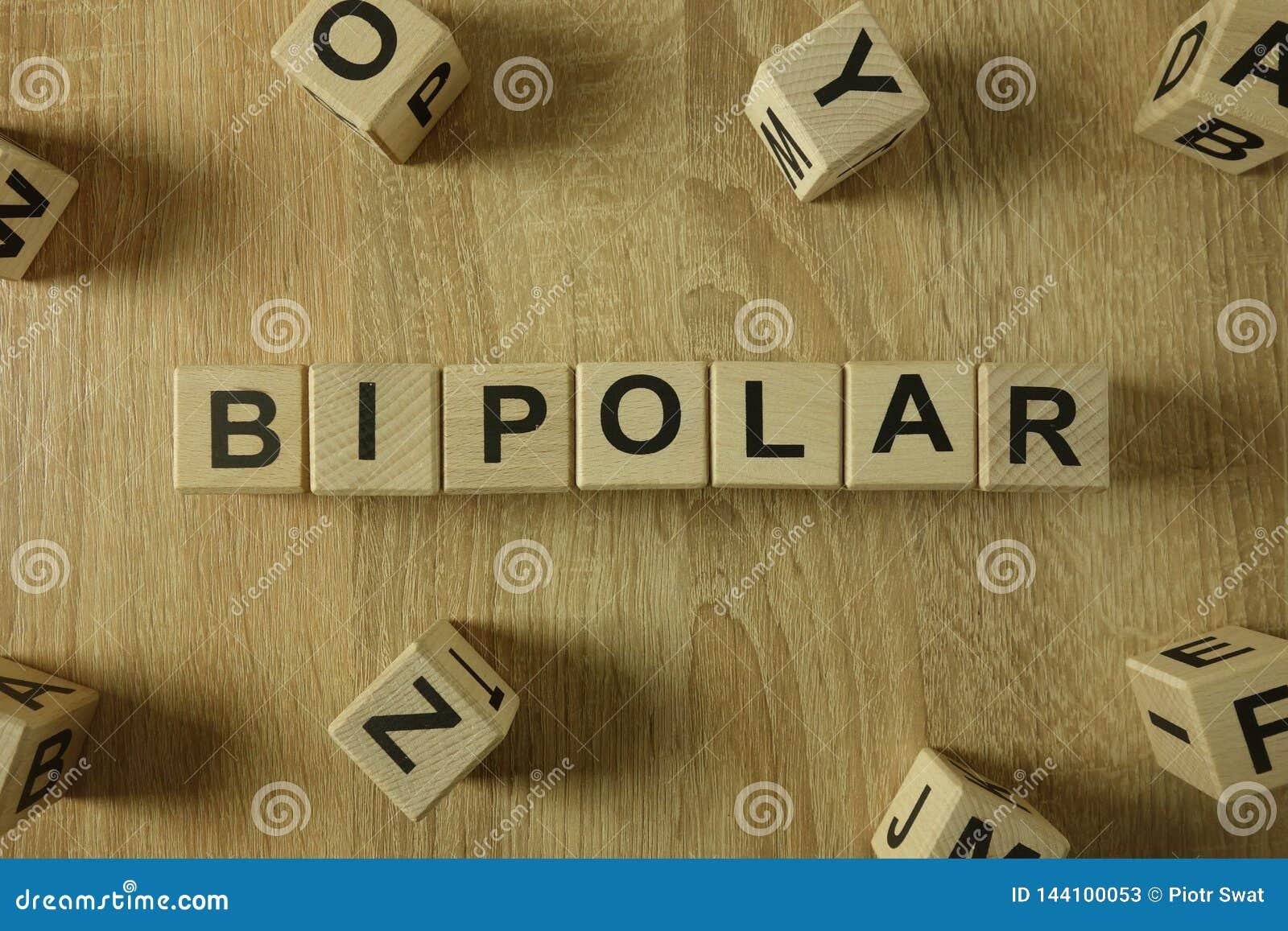 Mot bipolaire des blocs en bois