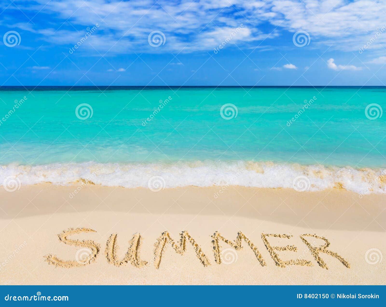 Mot d été de plage
