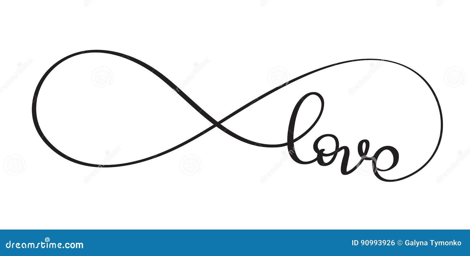 mot d 39 amour dans le signe de l 39 infini calligraphie de. Black Bedroom Furniture Sets. Home Design Ideas