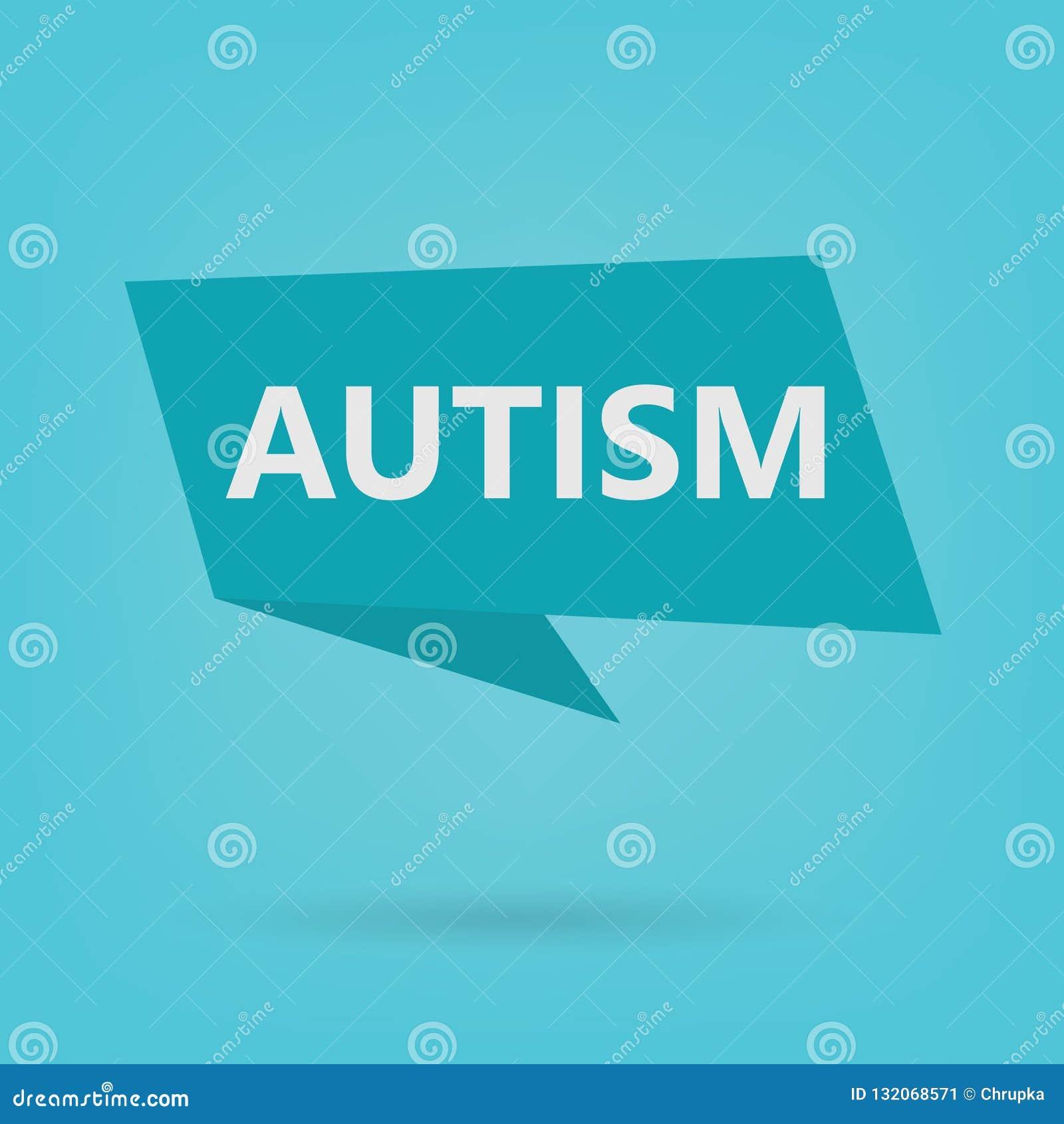 Mot d autisme sur un autocollant