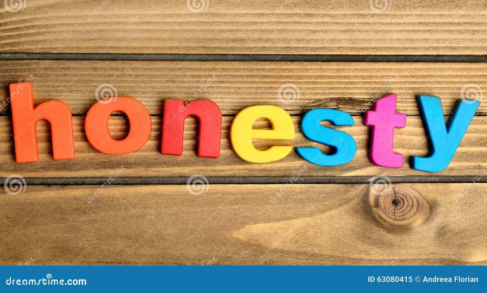 Download Mot d'honnêteté image stock. Image du aimant, lettres - 63080415