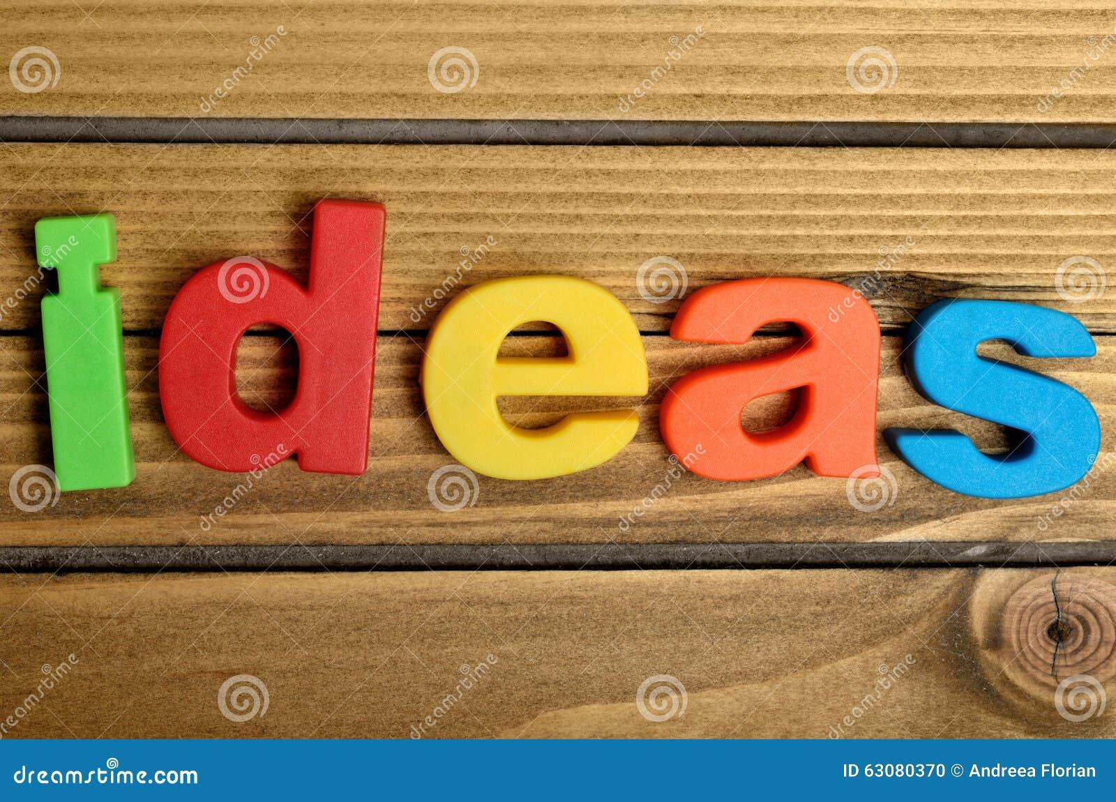 Download Mot d'idées photo stock. Image du invention, objet, brainstorming - 63080370