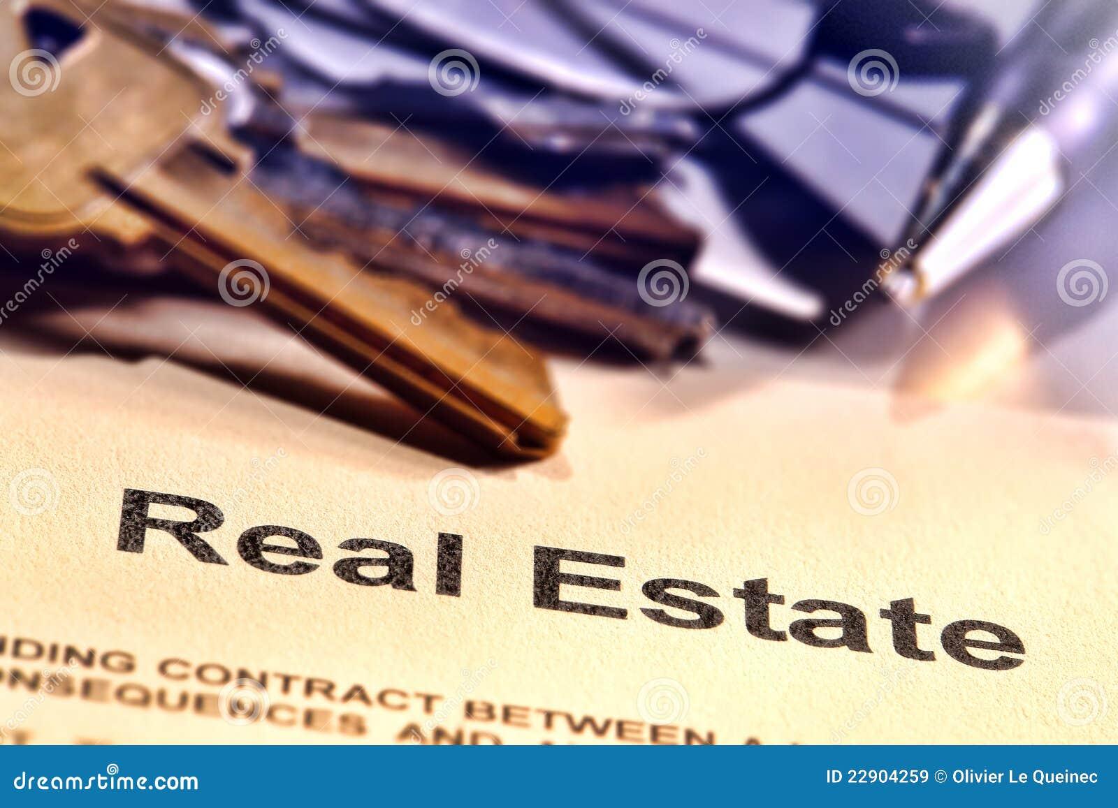 Mot de titre d immeubles à une page de contrat d agent immobilier