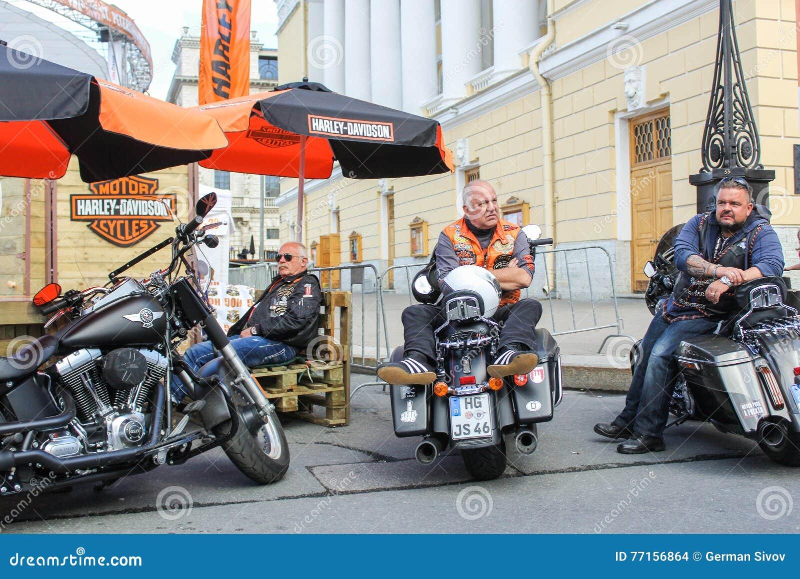 Motards d Allemagne à la moto