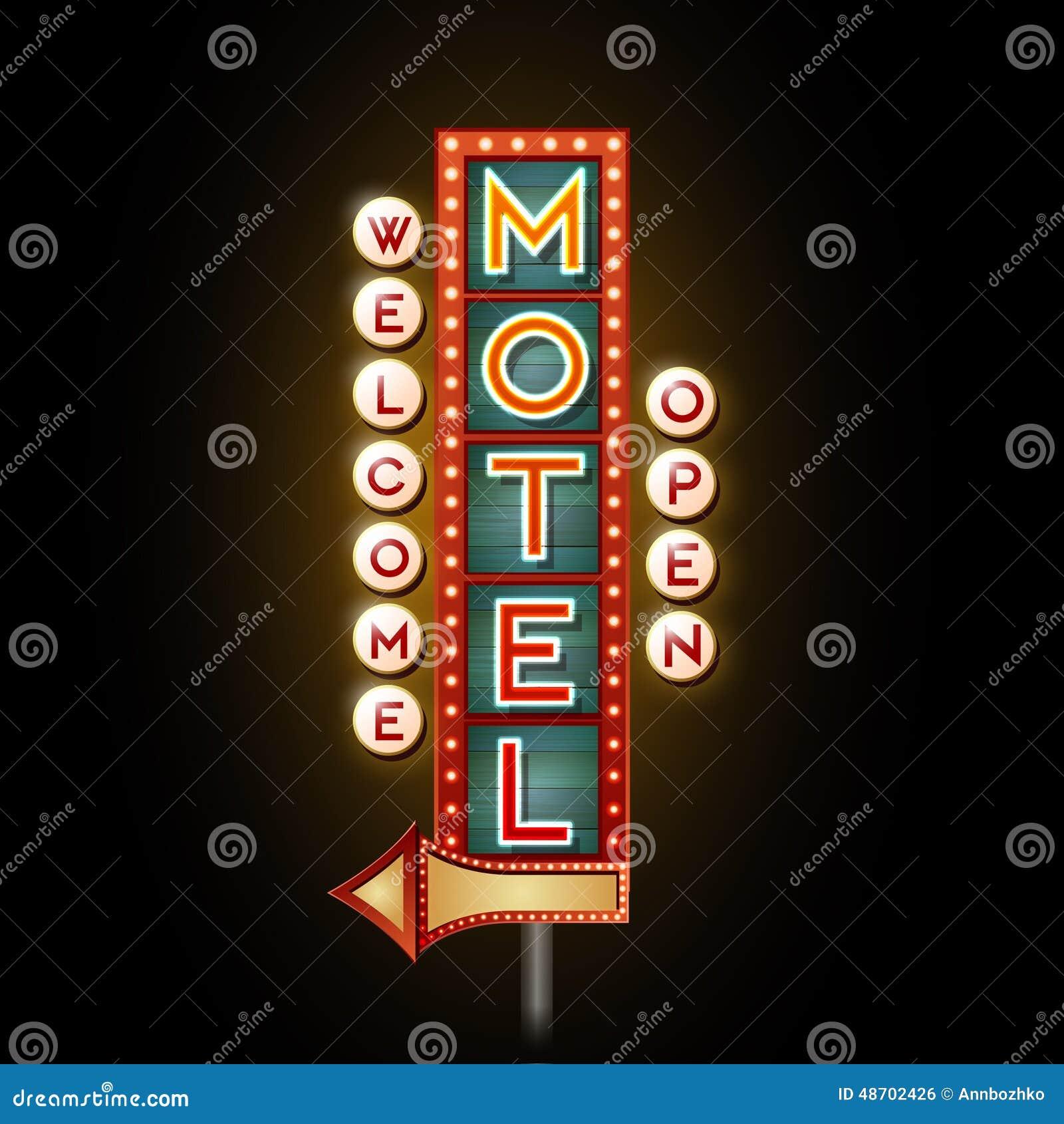 Motel d enseigne au néon