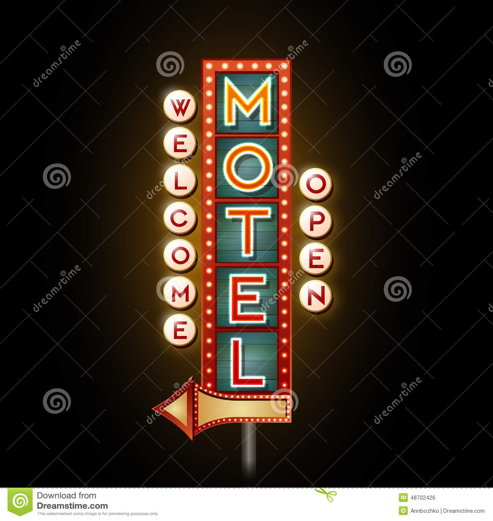 Motel de la señal de neón