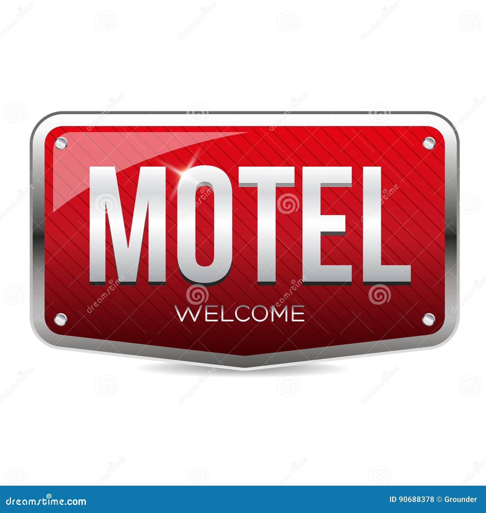 Motel retro sign vector