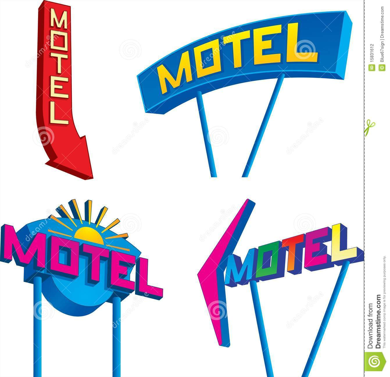 Motel Signs Stock Photography