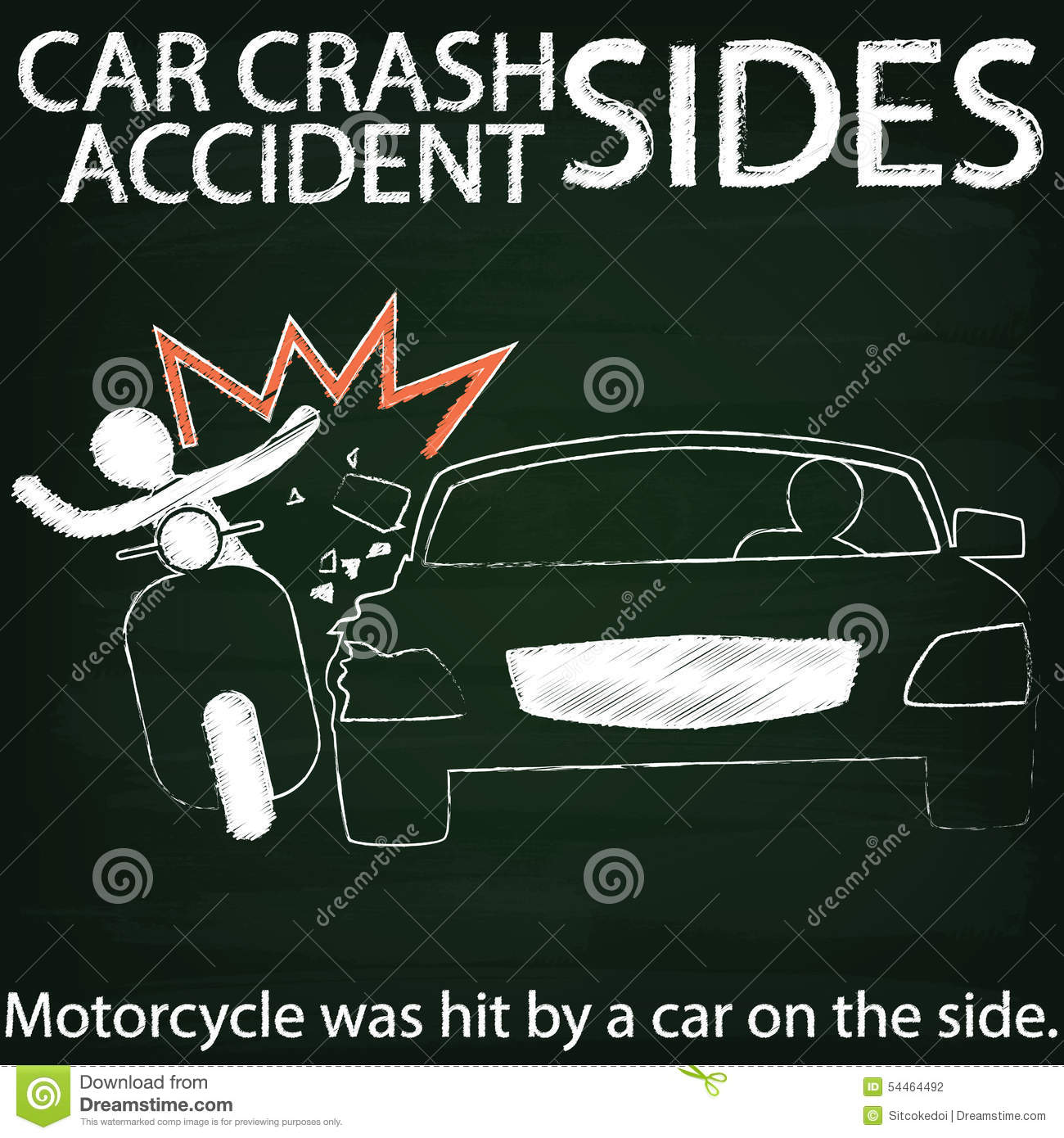 Lesbian car crash road sign motorbike
