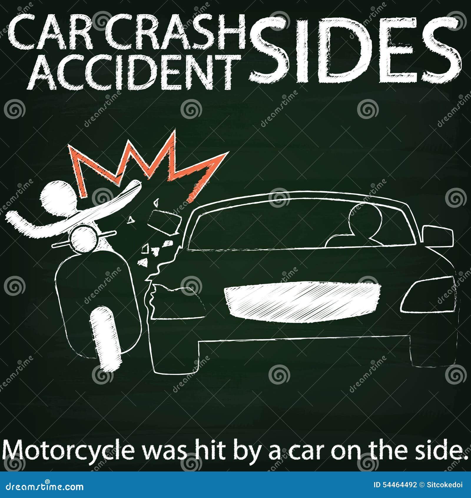 Lesbian car crash road sign motorbike
