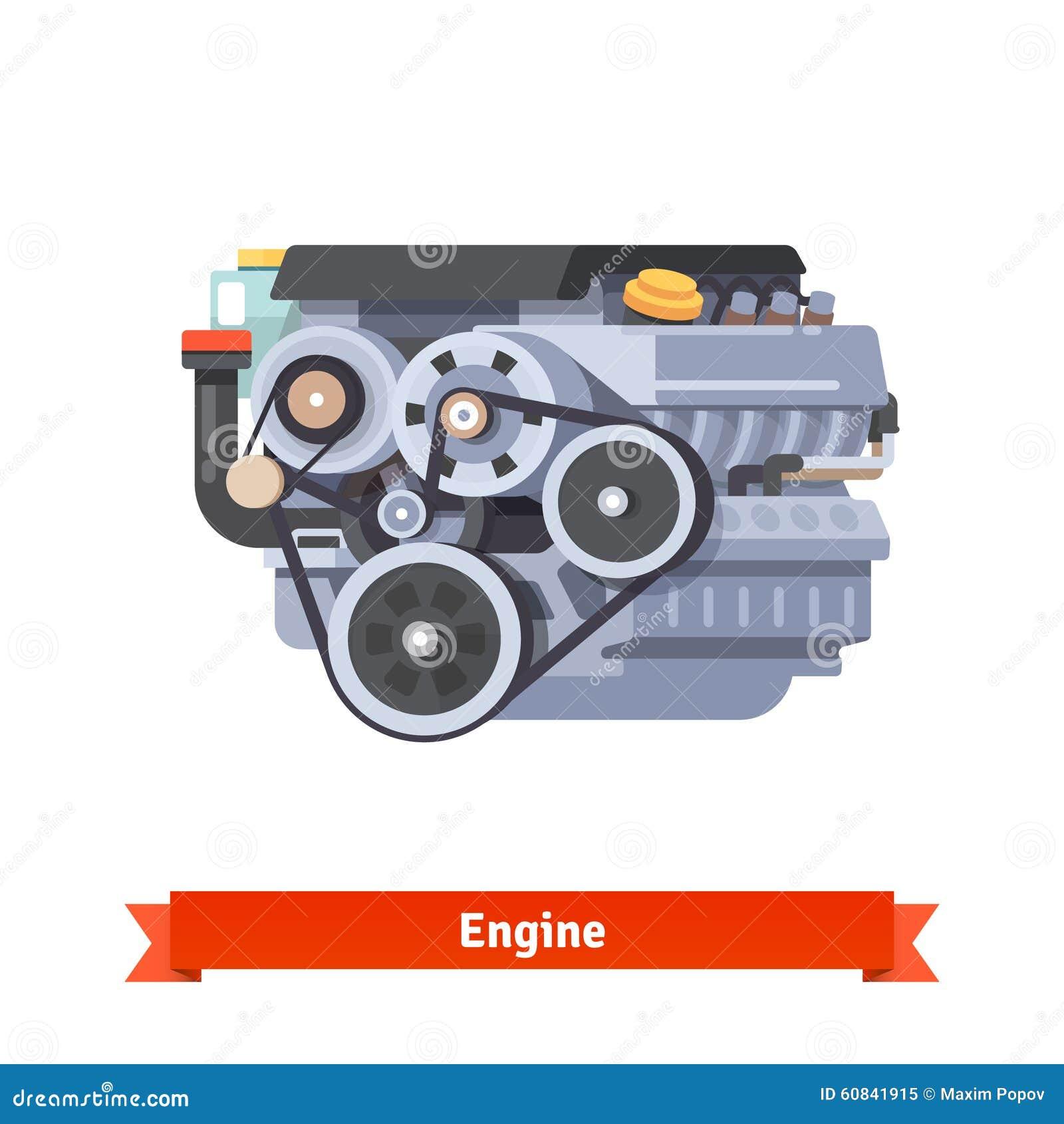 moteur combustion interne moderne de voiture illustration de vecteur image 60841915. Black Bedroom Furniture Sets. Home Design Ideas