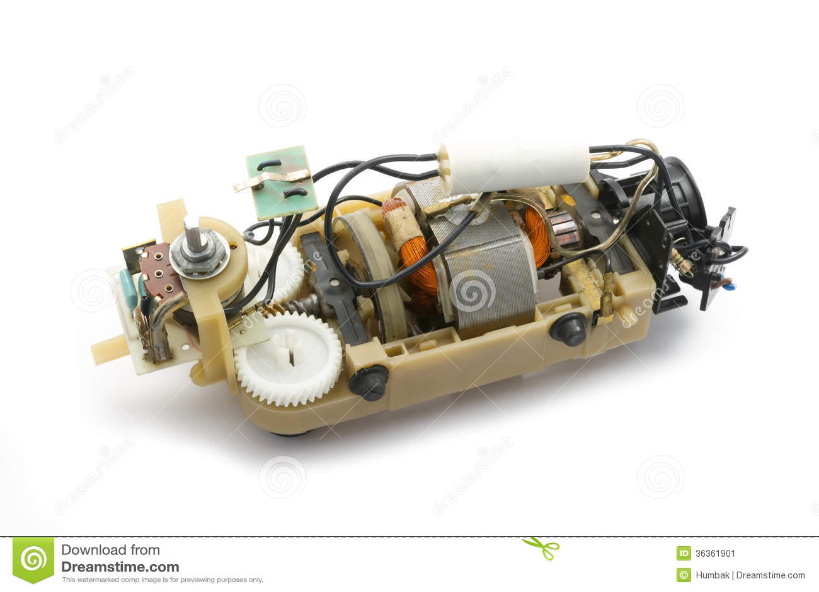 Moteur électrique Image Stock Image Du Conception Bobine 36361901