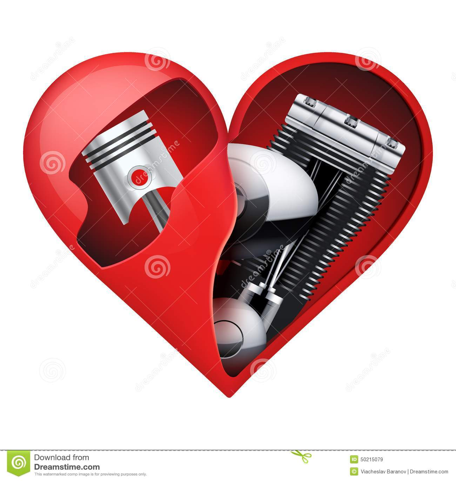 moteur en m tal l 39 int rieur d 39 un coeur rouge illustration de vecteur image 50215079. Black Bedroom Furniture Sets. Home Design Ideas
