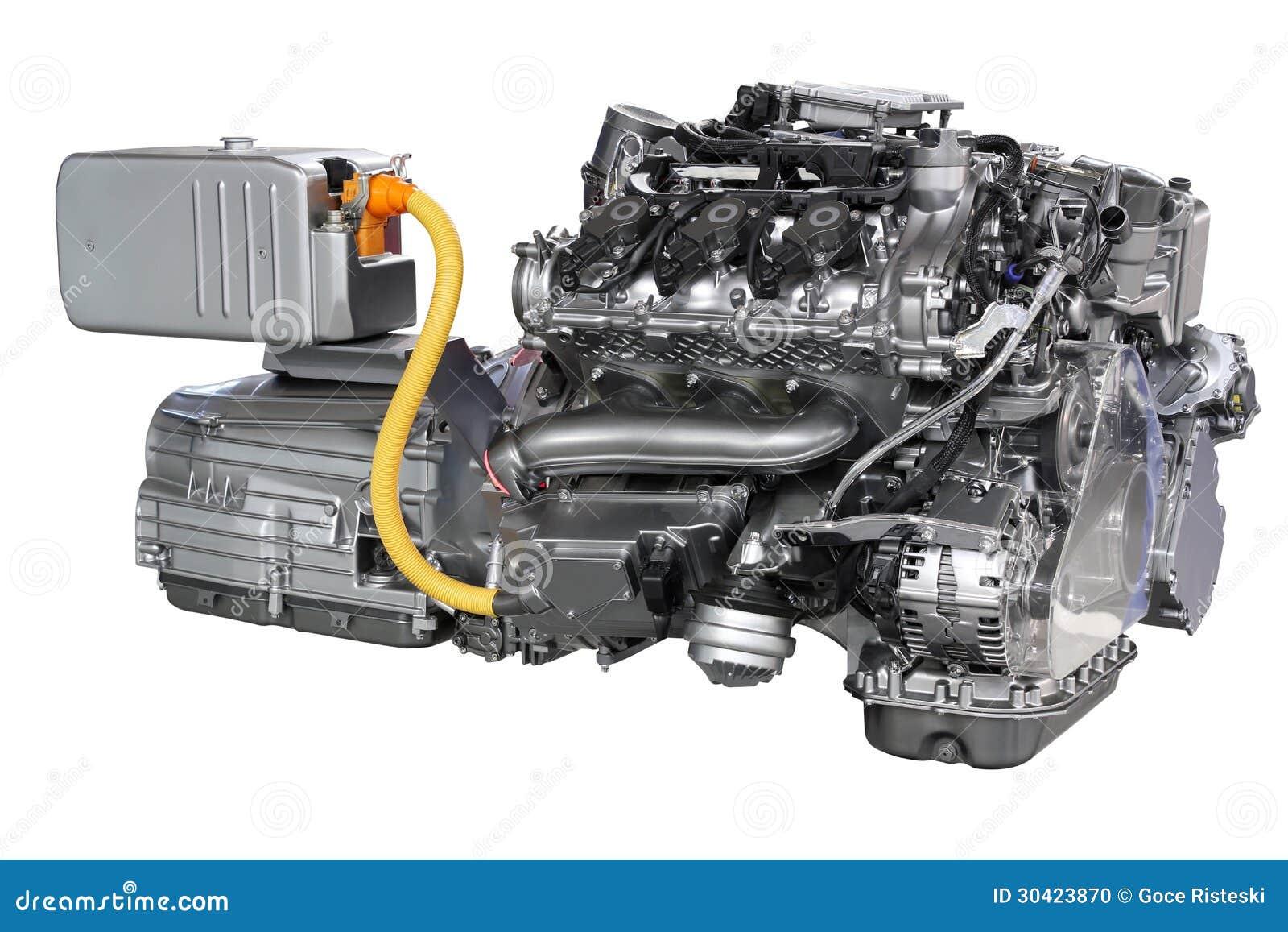 moteur hybride de voiture d 39 isolement photo stock image du propulsion partie 30423870. Black Bedroom Furniture Sets. Home Design Ideas