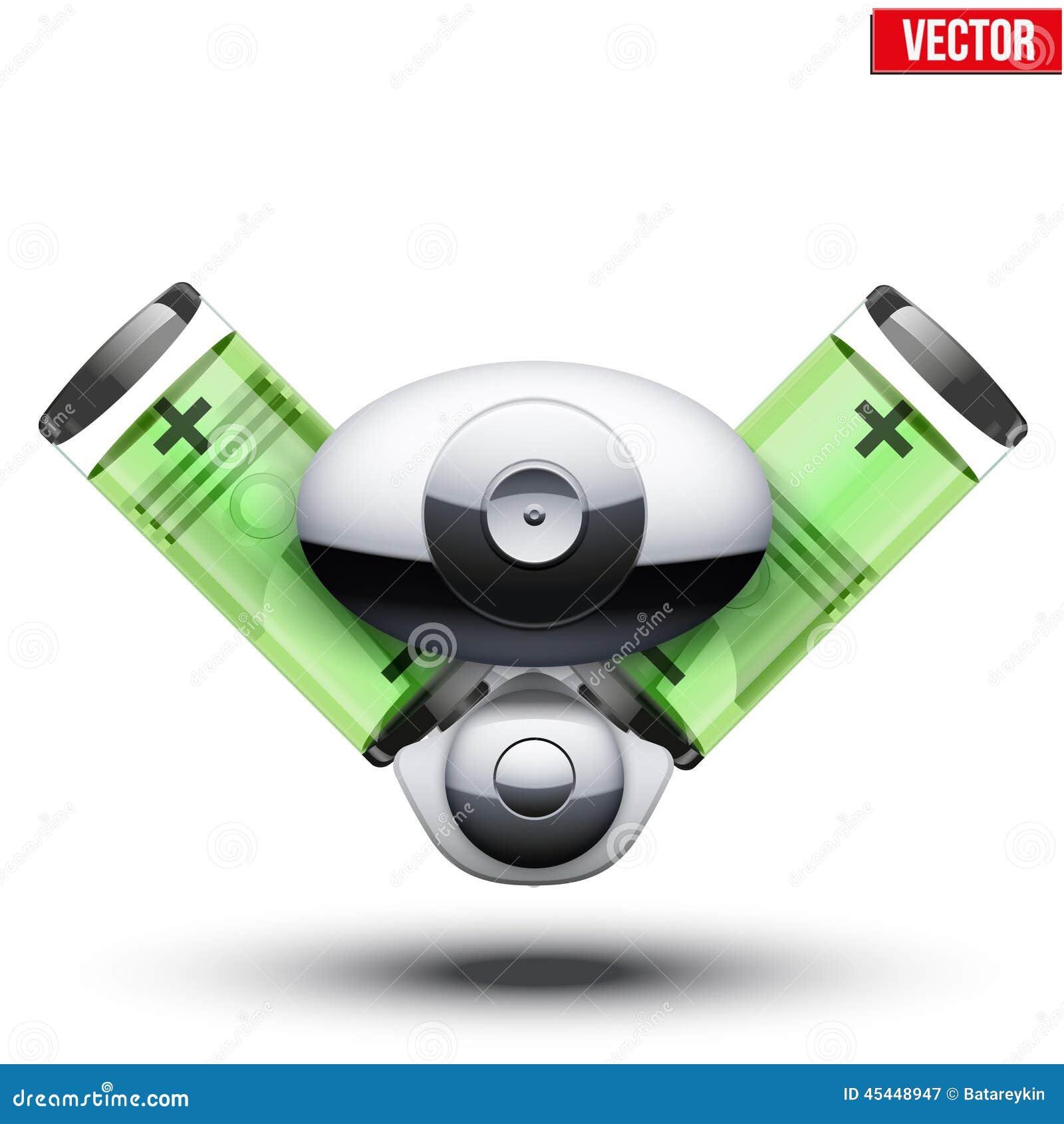 moteur hybride de voiture sur le fond blanc illustration de vecteur image 45448947. Black Bedroom Furniture Sets. Home Design Ideas