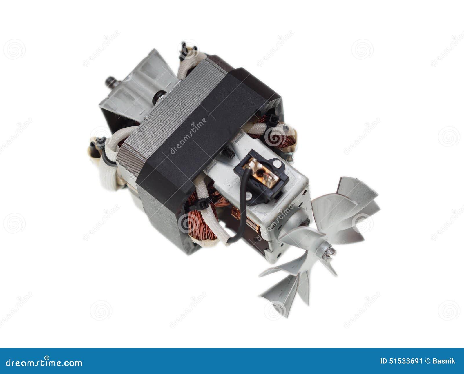 moteur lectrique d 39 aspirateur d 39 isolement sur le blanc. Black Bedroom Furniture Sets. Home Design Ideas