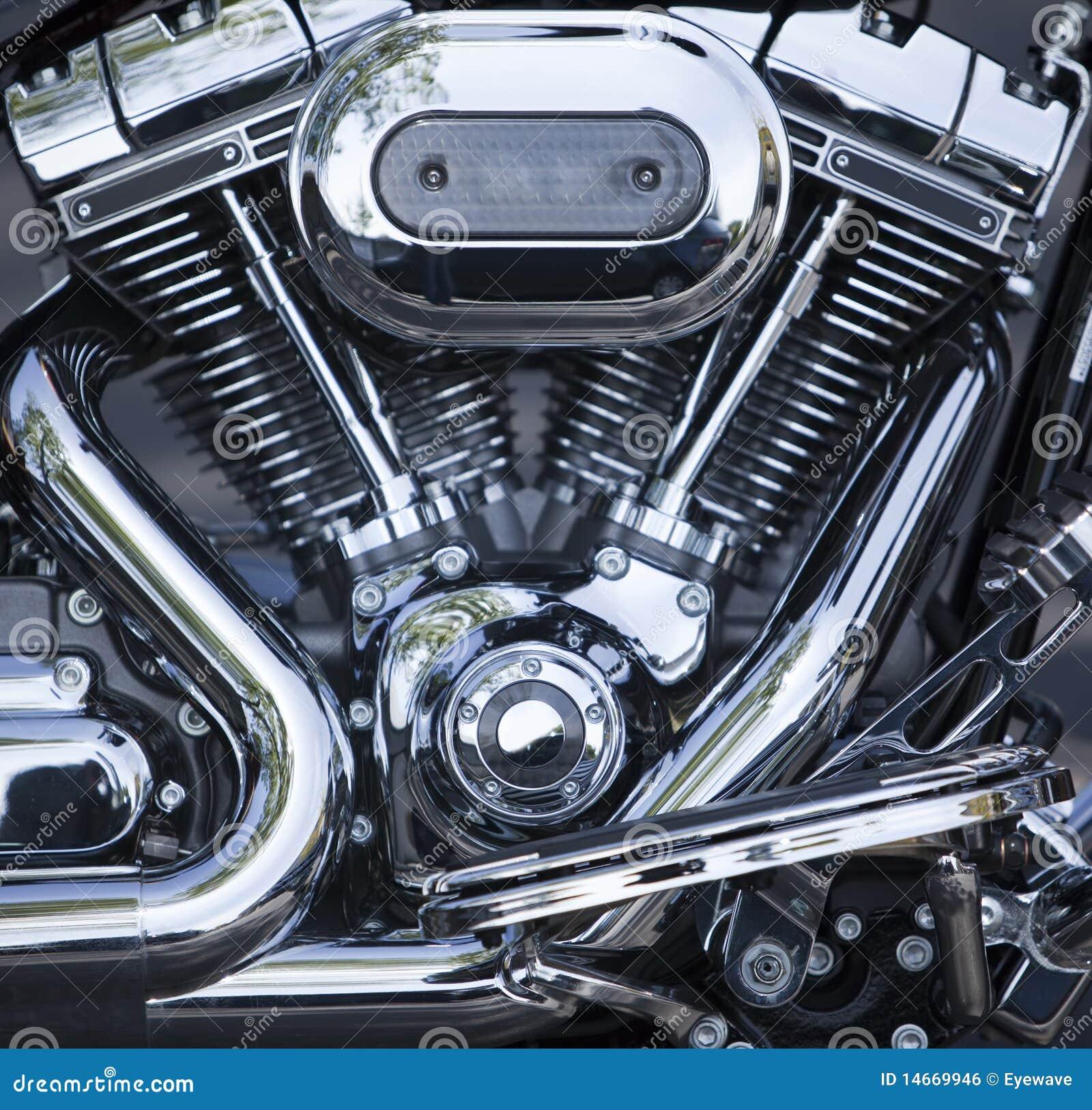 moteur v jumeau poli de moto photo stock image du deux poli 14669946. Black Bedroom Furniture Sets. Home Design Ideas
